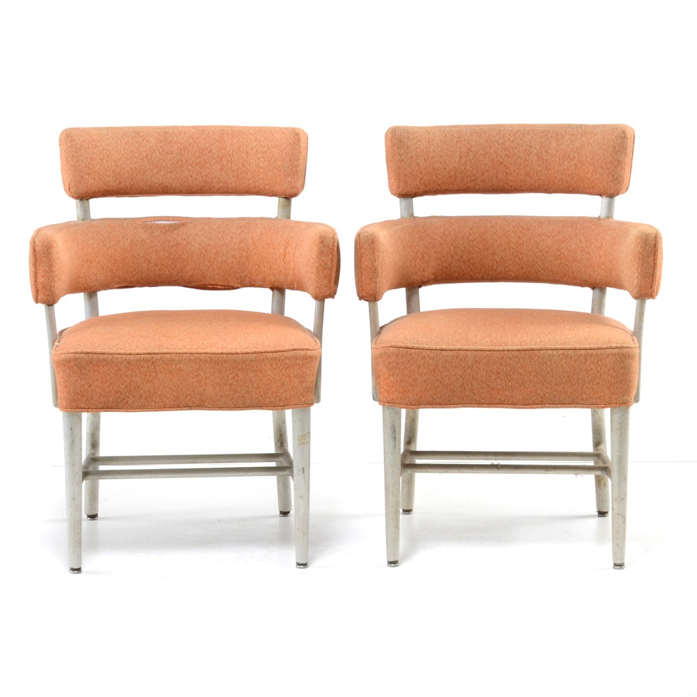 Pair of Ocean Liner Chairs from SS United States