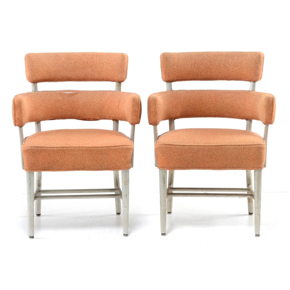 Pair of Mid Century Modern Aluminum Framed Arm Chairs