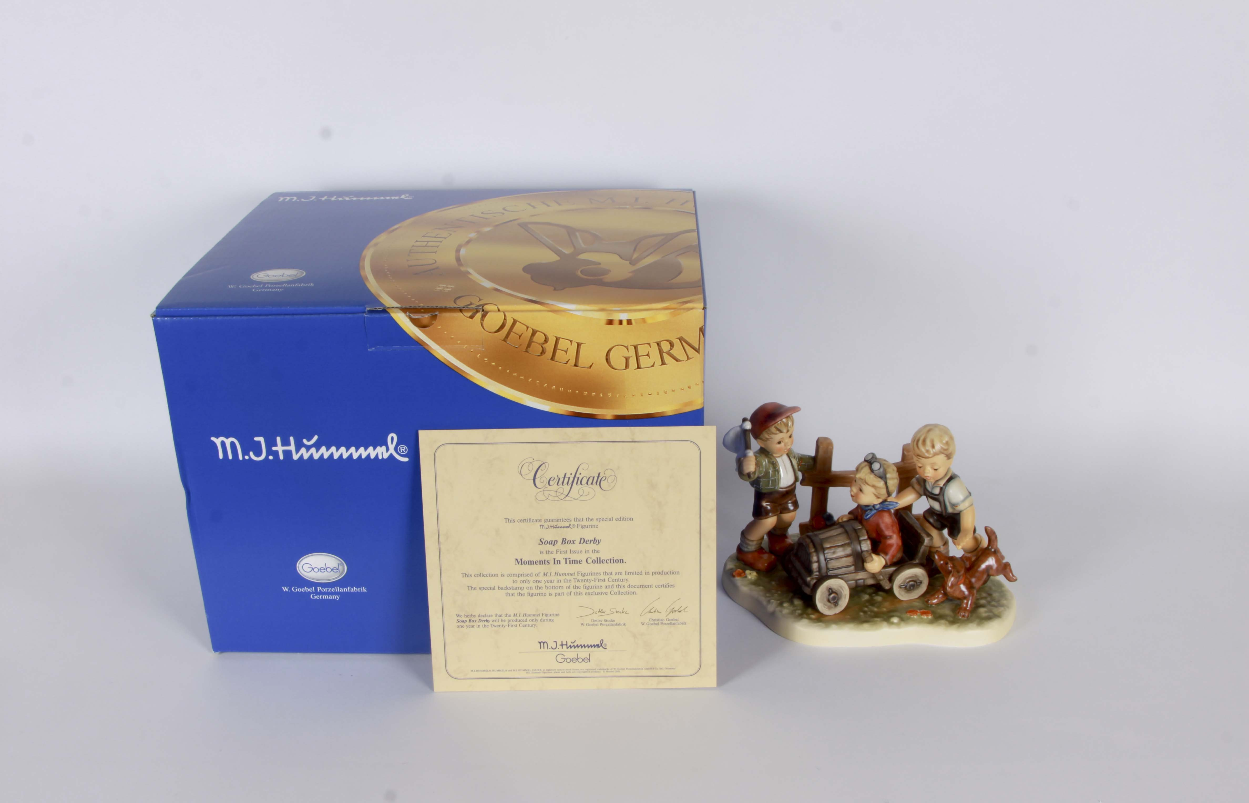 "Goebel Figurine""Soap Box Derby"""