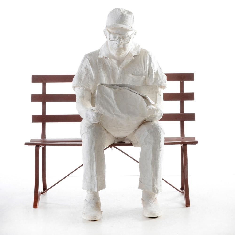 "Ann Arnold ""Jack"" Plaster of Paris Sculpture"