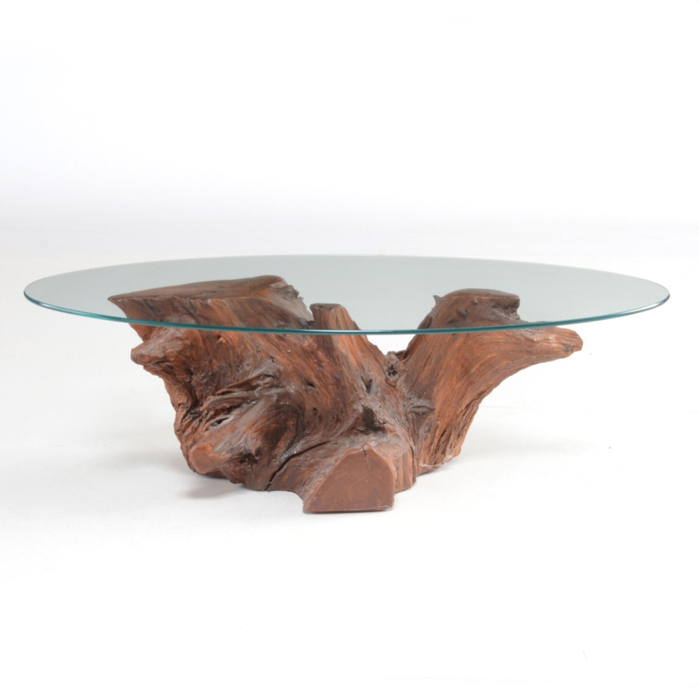 Natural Cedar Root Coffee Table