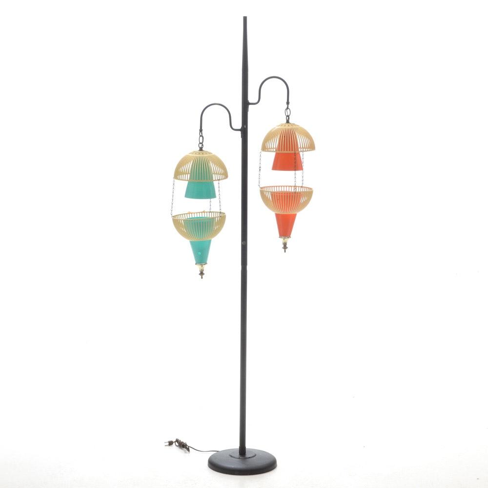 Mid Century Modern Pendant Floor Lamp