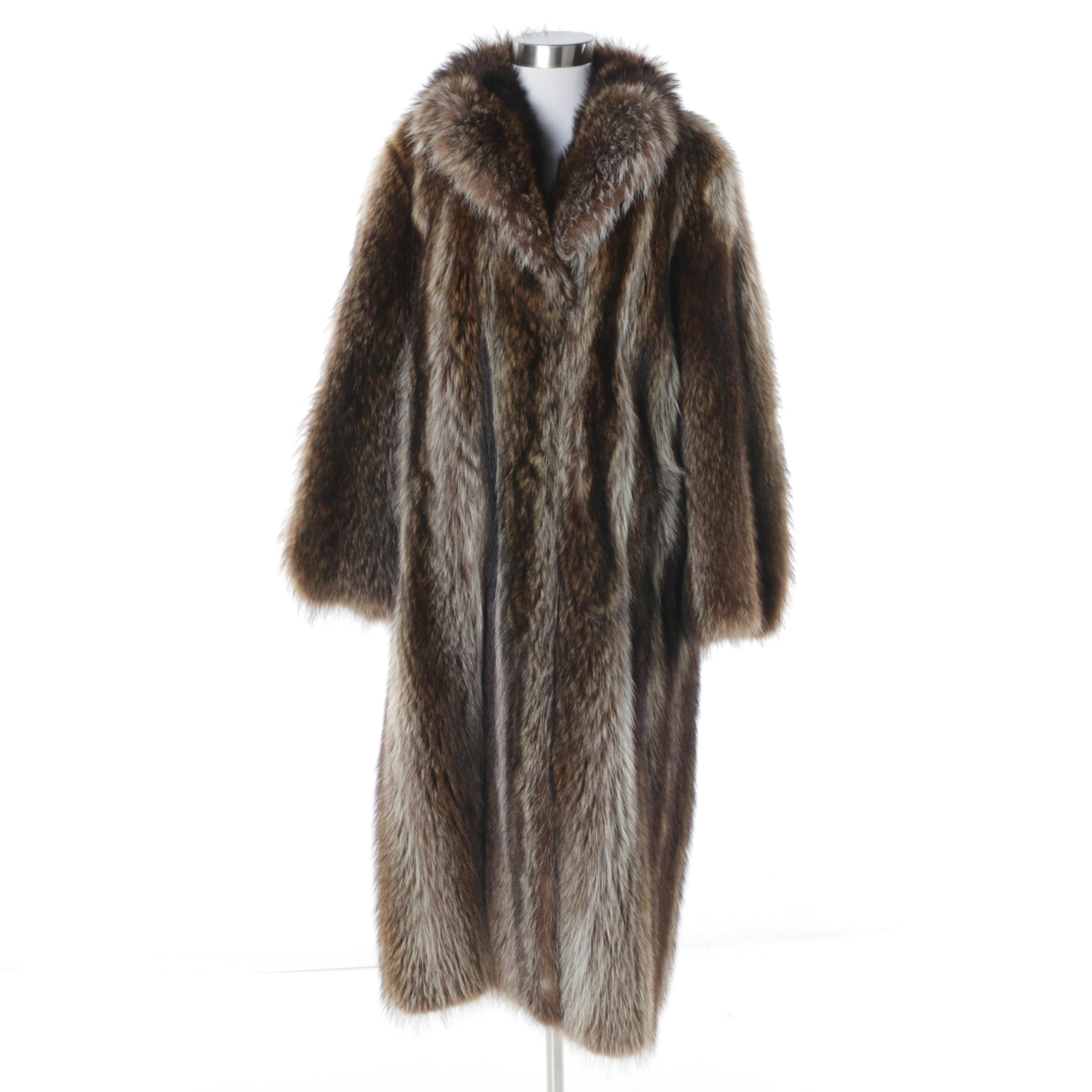 Alexandor's Furs of Montreal Raccoon Fur Coat