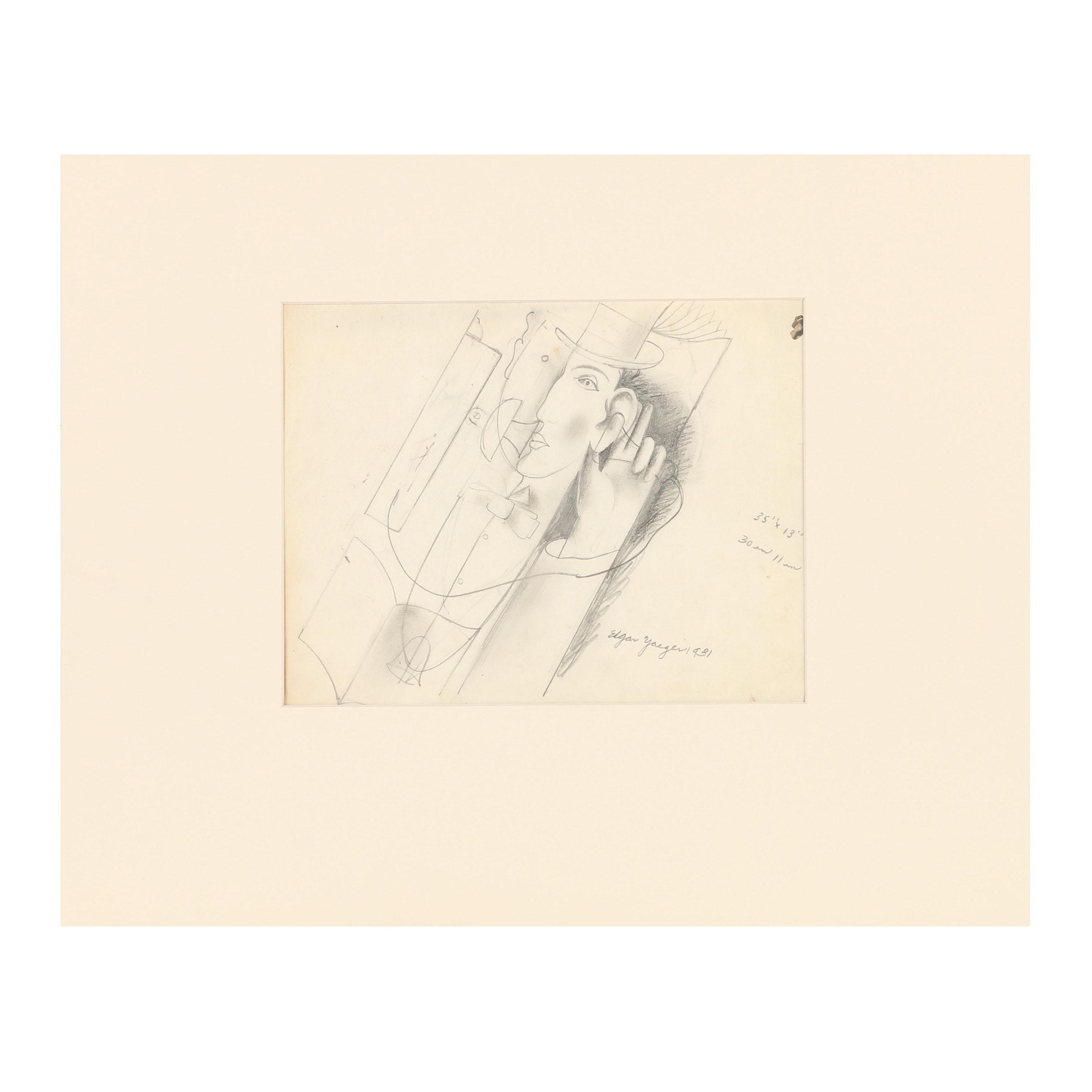 Edgar Yaeger Graphite Drawing