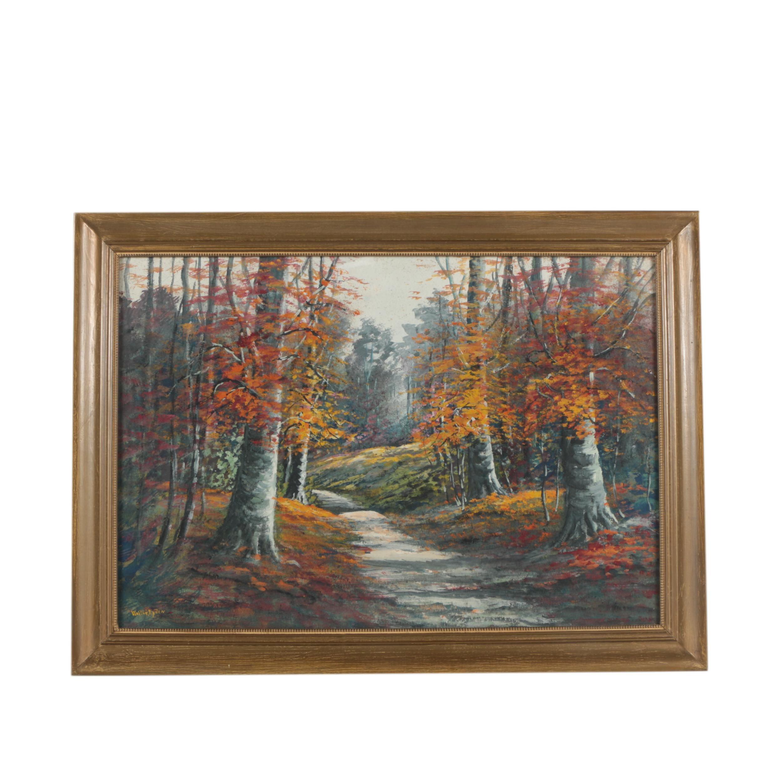 Walter Eyden Oil Landscape Painting