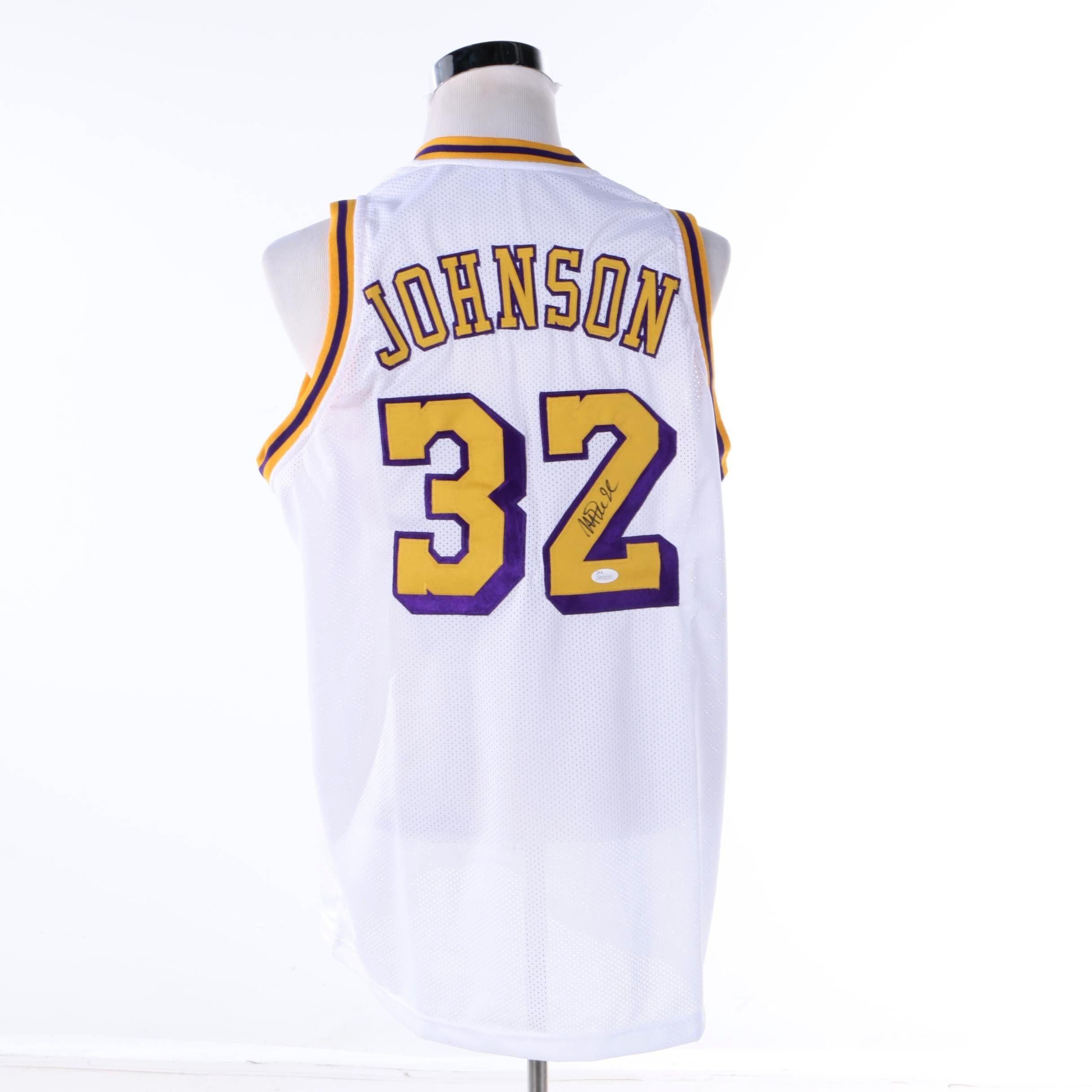 Magic Johnson Autographed Los Angeles Jersey - JSA COA