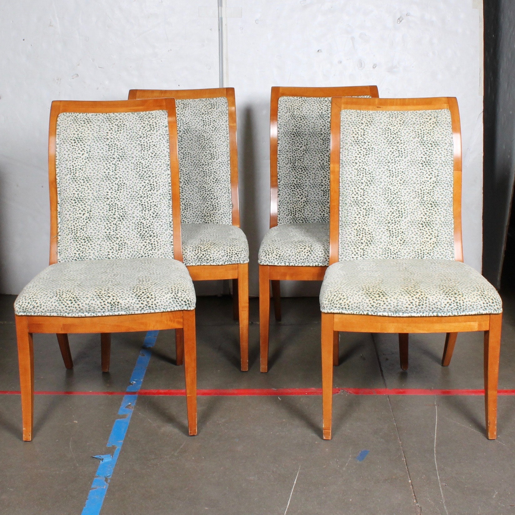 Upholstered Wood Framed Dining Chairs