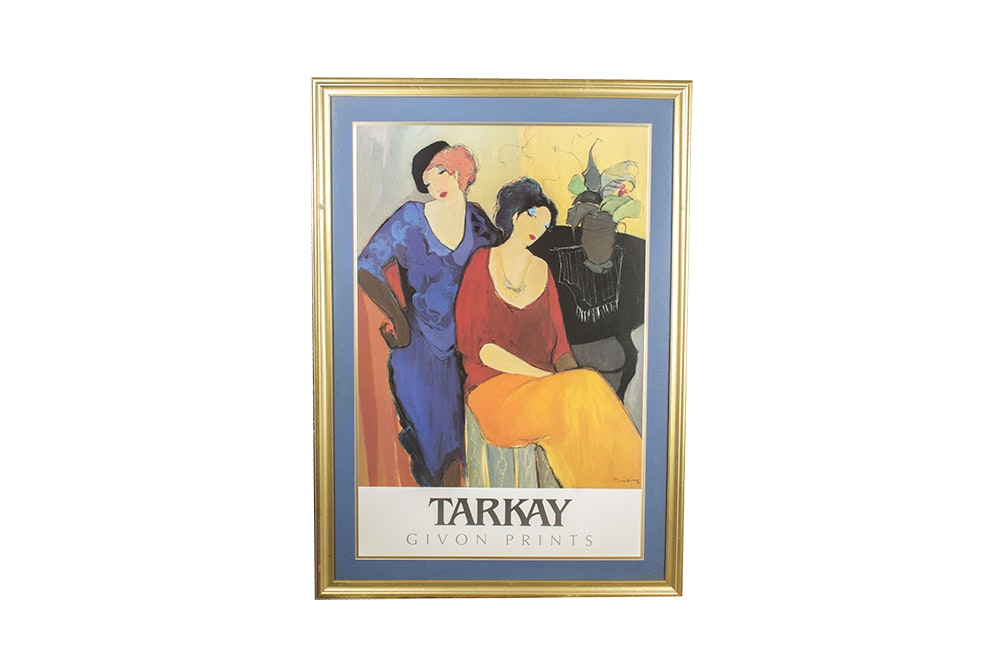 "Offset Lithograph After Itzchak Tarkay ""Waiting"""