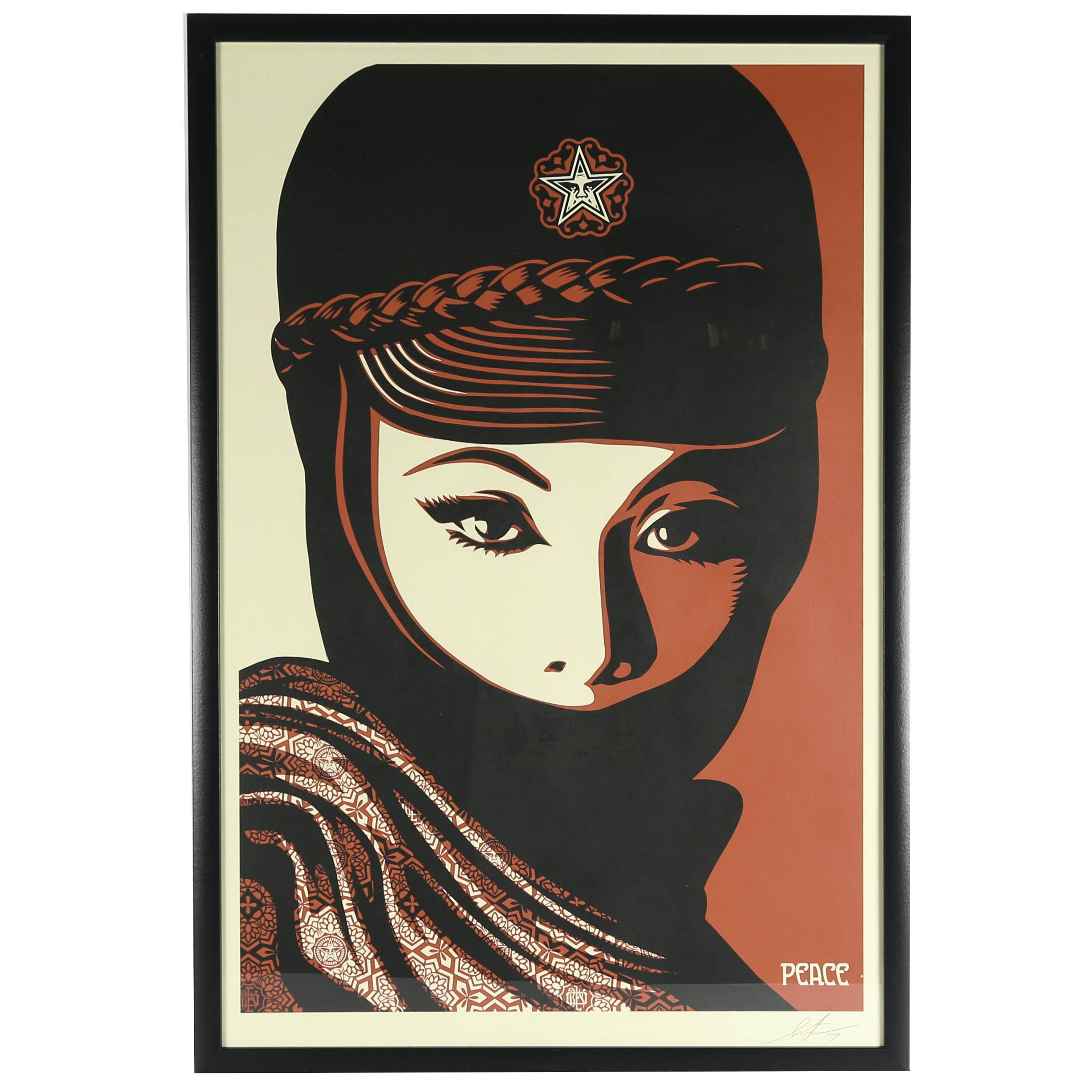 "Shepard Fairey Signed Offset Lithograph ""Mujer Fatale"""