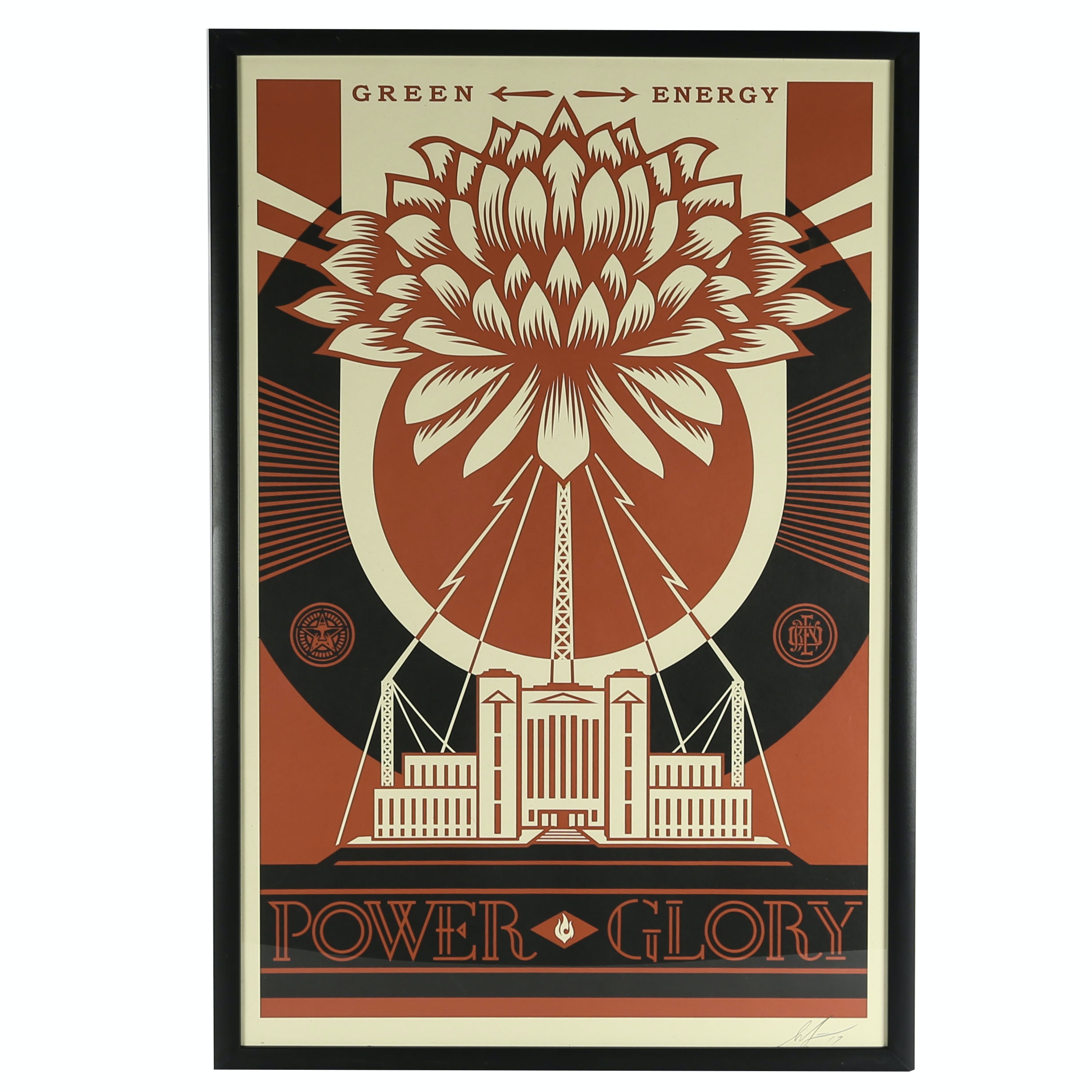 "Shepard Fairey Signed Offset Lithograph ""Green Energy"""