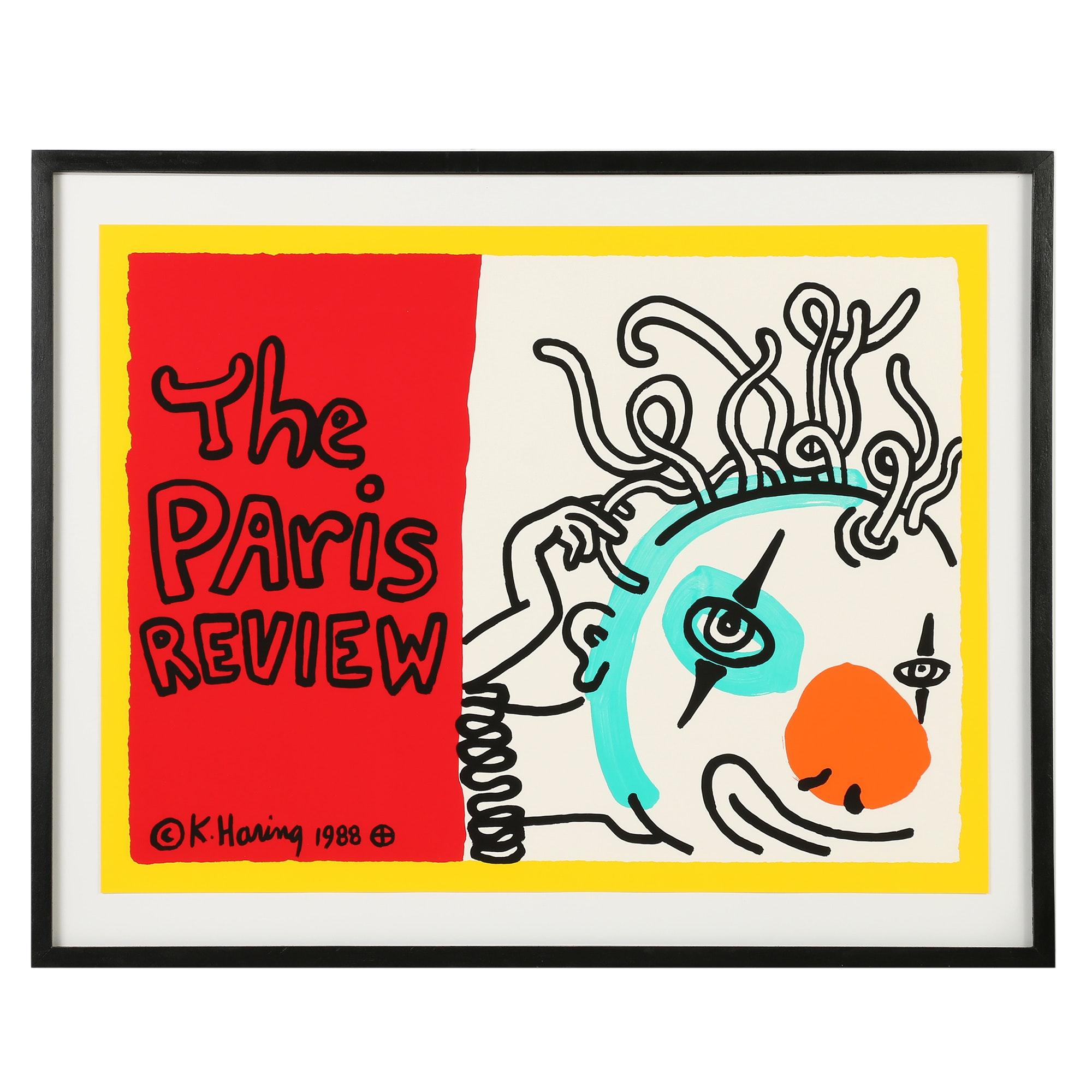 "Keith Haring Archival Poster ""The Paris Review"""