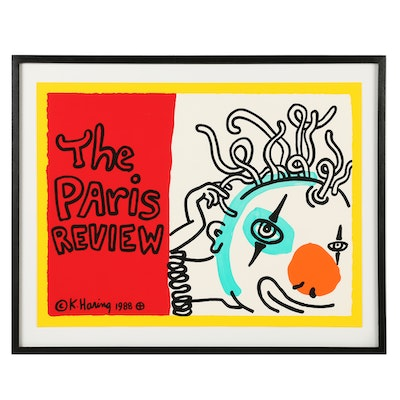 """Keith Haring Archival Poster """"The Paris Review"""""""