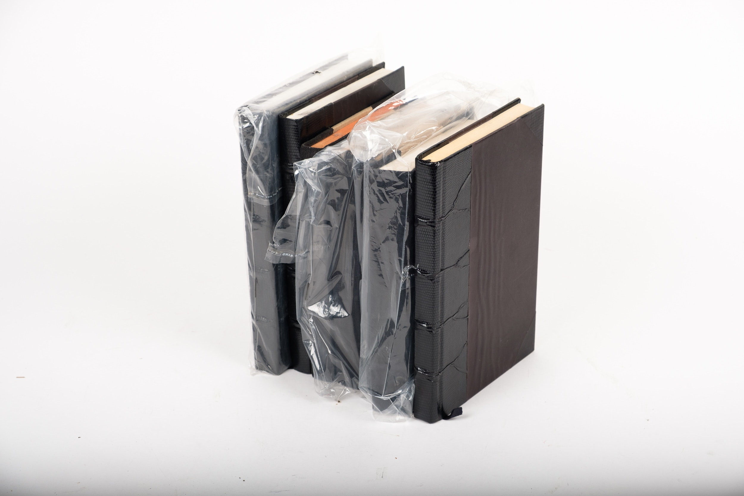 Collection of Decorative Rebound Novels in Black