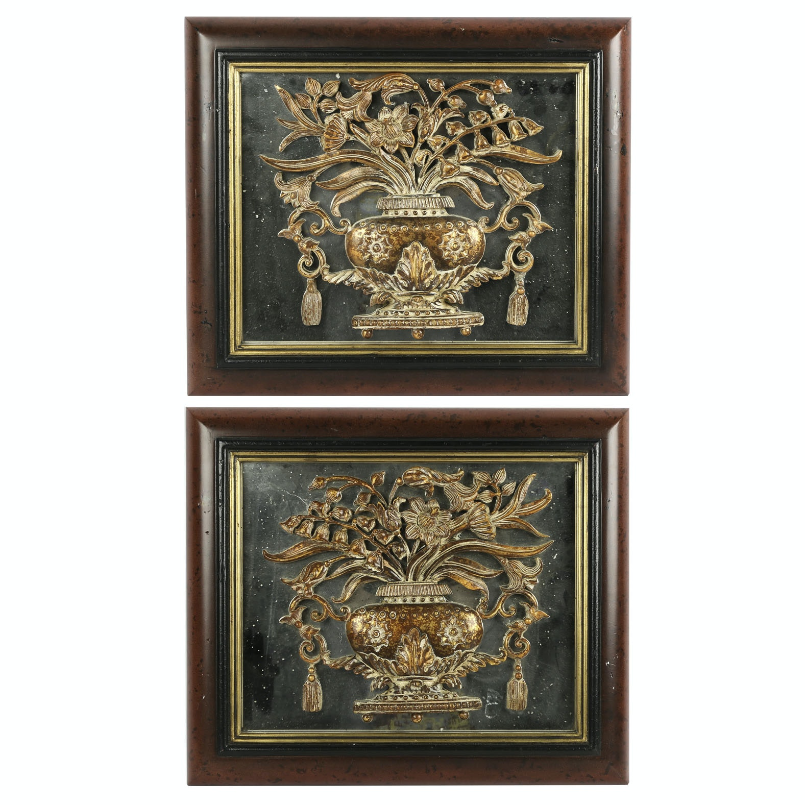 Provincial Mirrored Wall Plaques