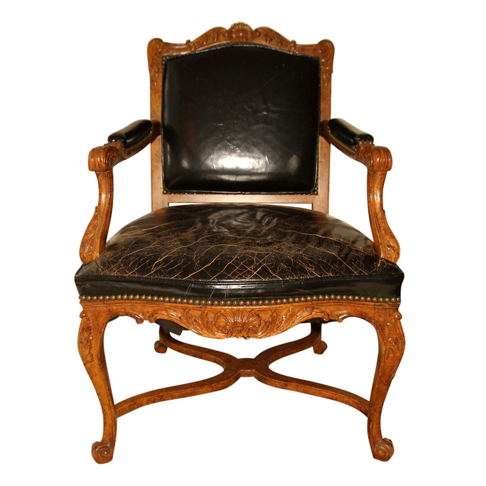 High Quality Vintage Louis XV Style Armchair By The Danby Company ...