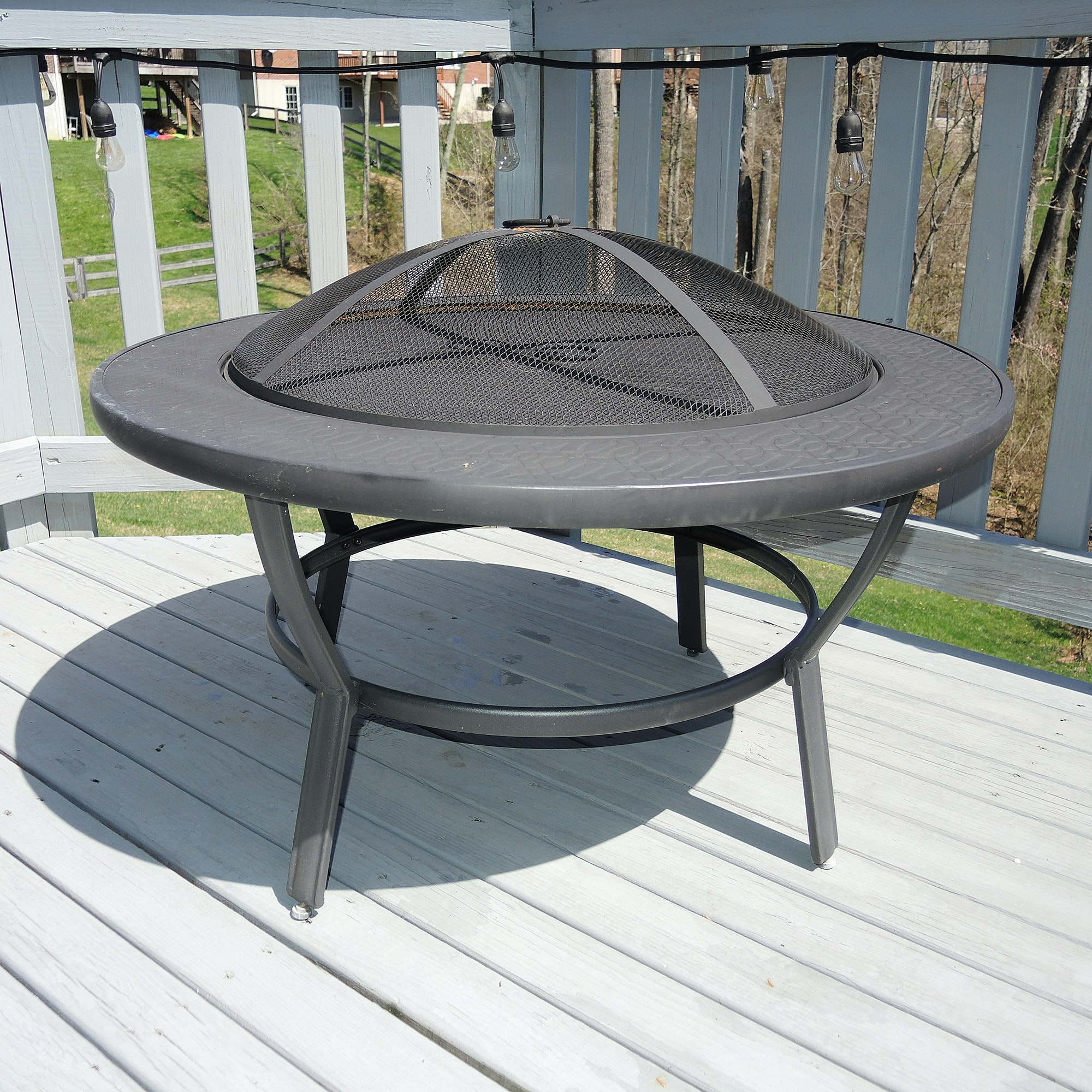 Outdoor Fire Pit with Lid