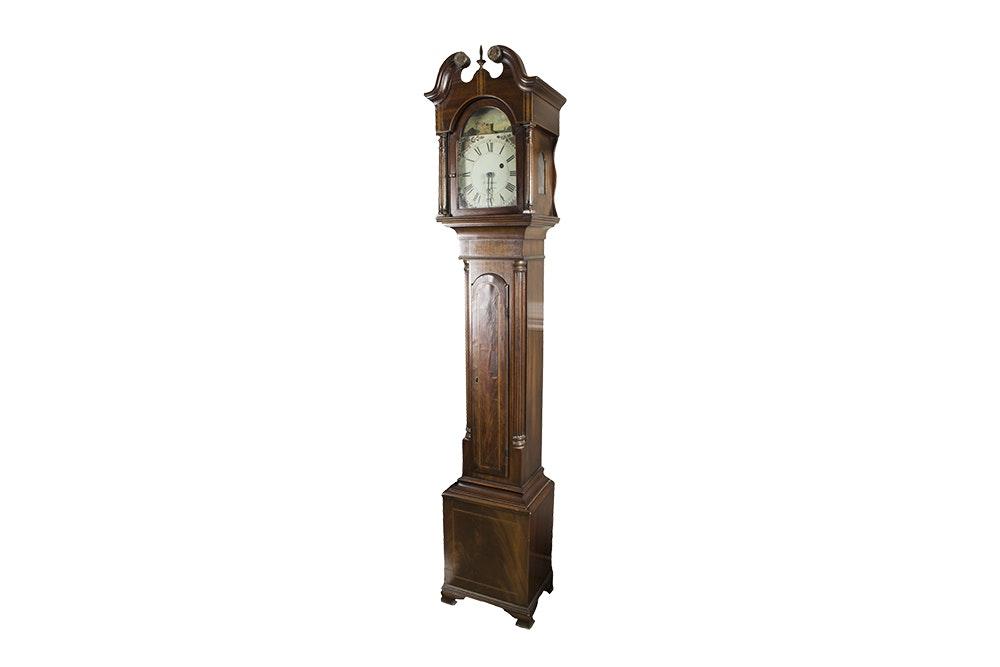 19th Century Joshua Wilder Federal Style Dwarf Grandfather Clock