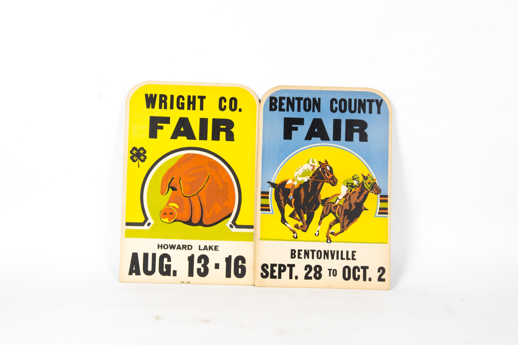 Two Vintage County Fair Advertisements