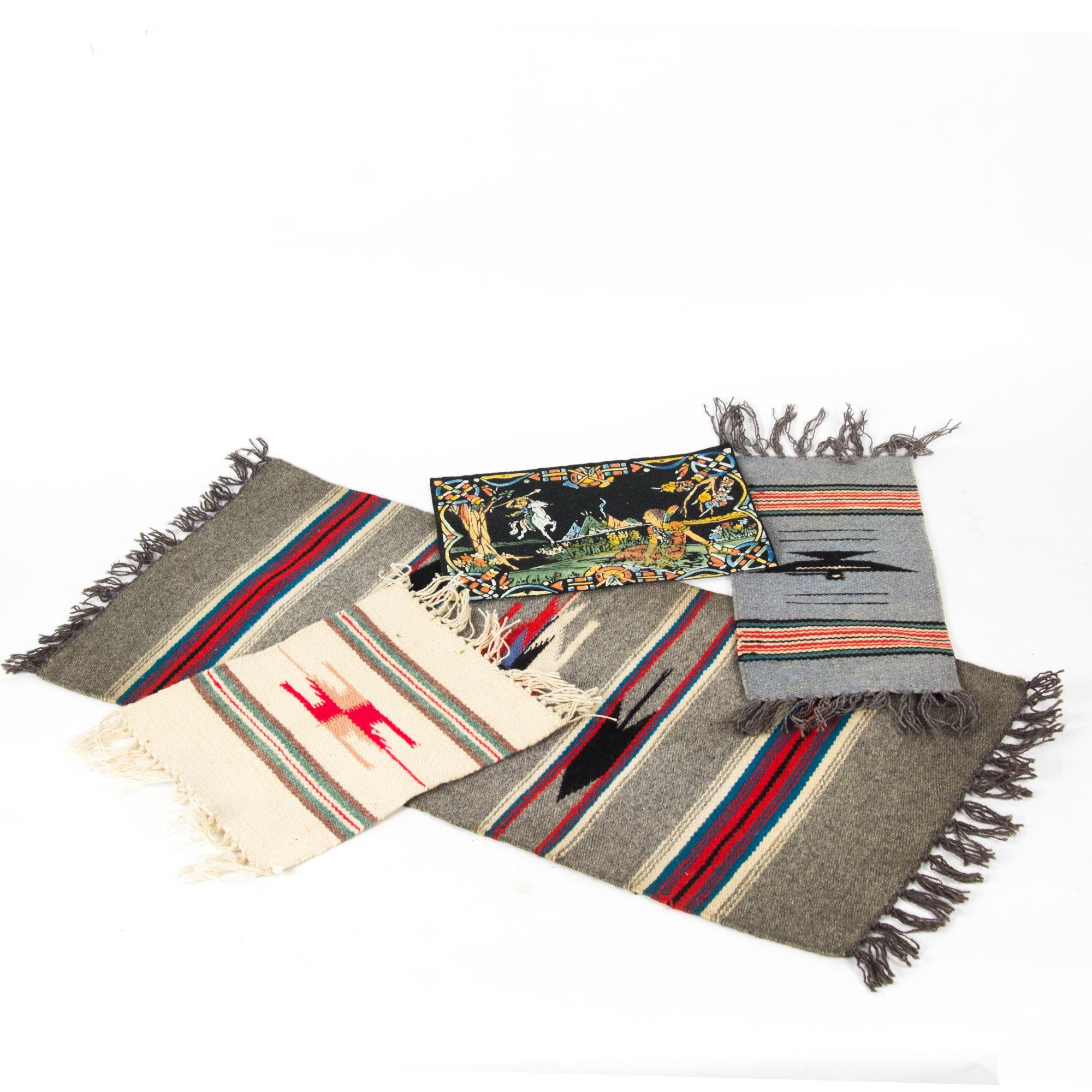 Assortment of Southwestern Themed Textiles