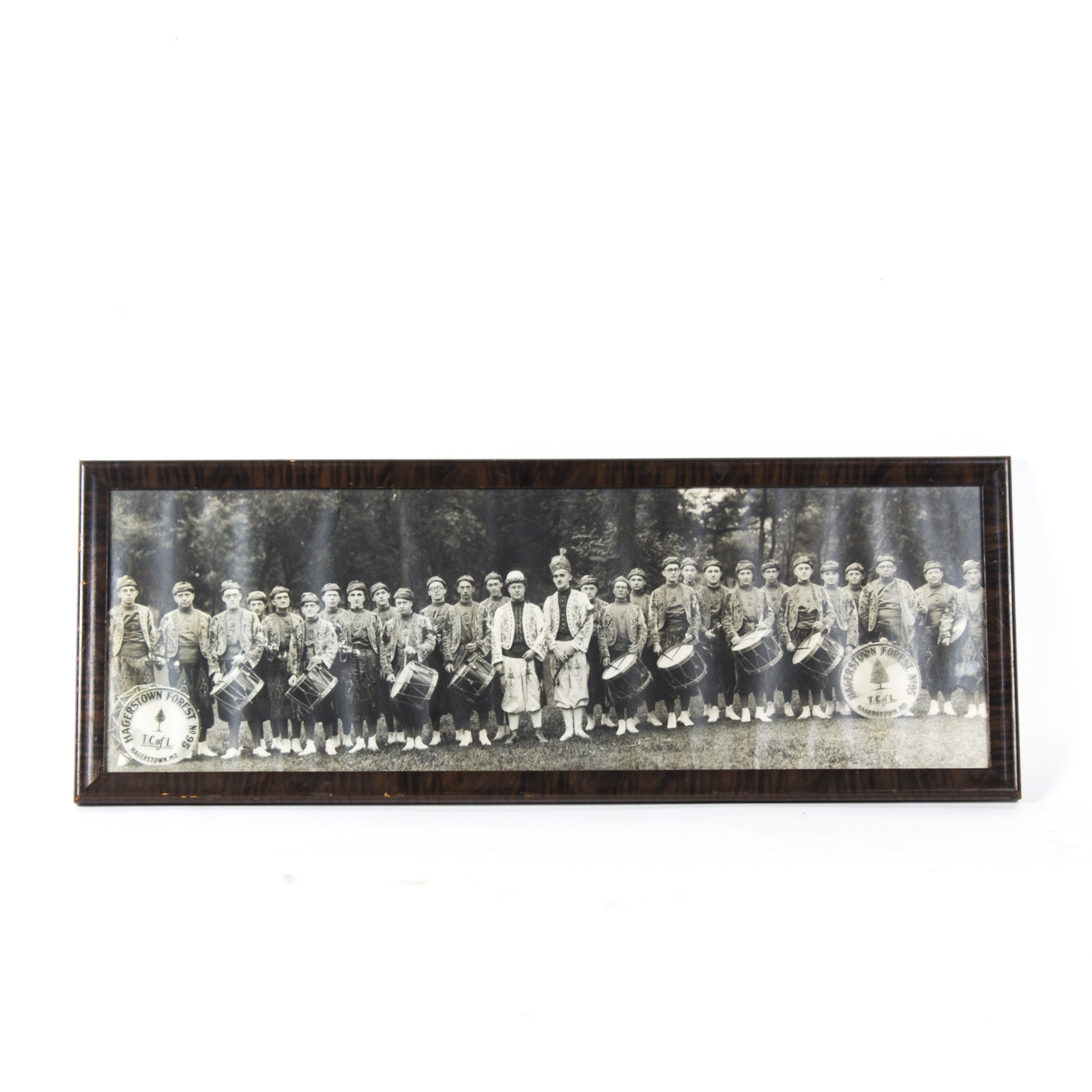 Vintage Framed Black and White Photograph