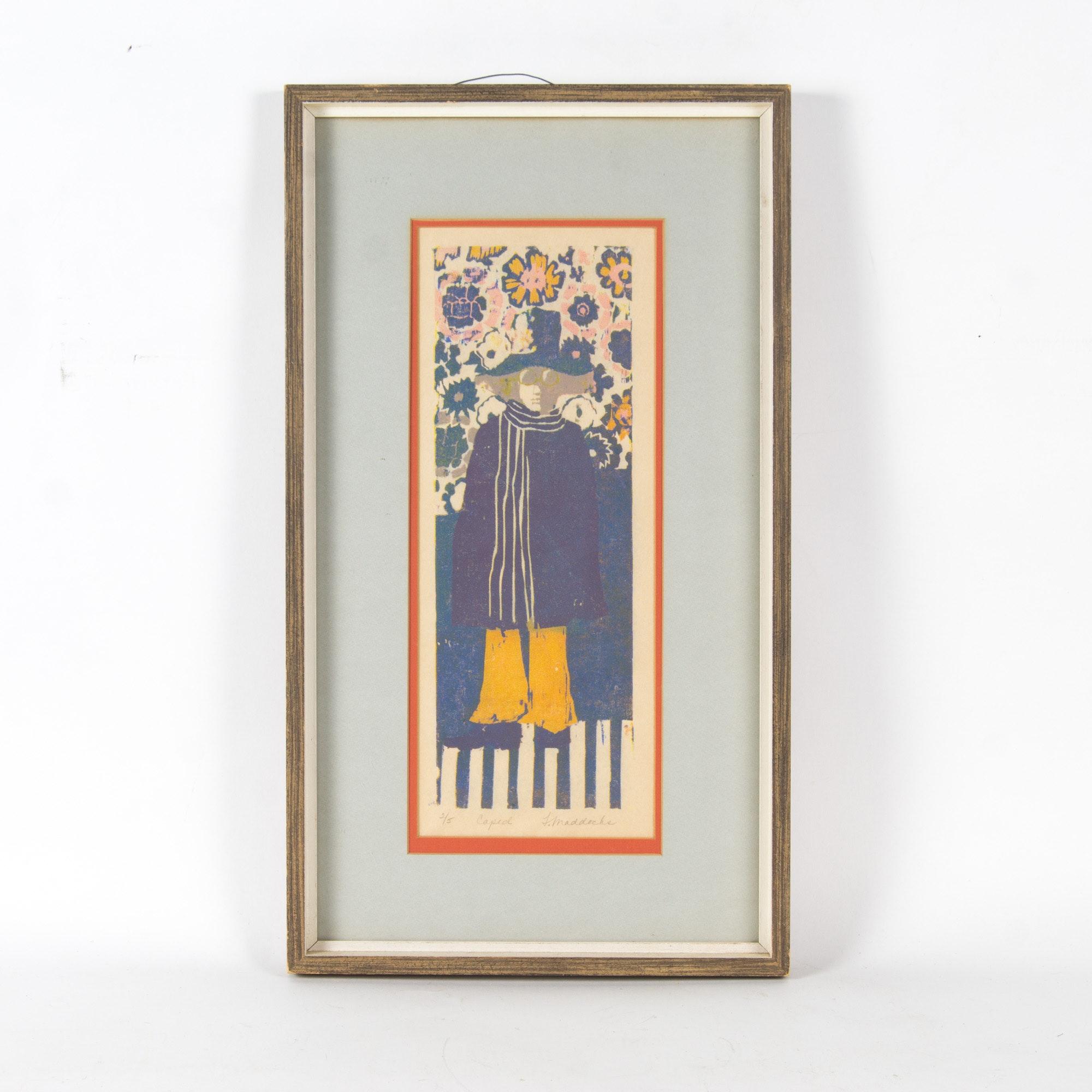"F. Maddocks Color Block Relief Print ""Caped"""