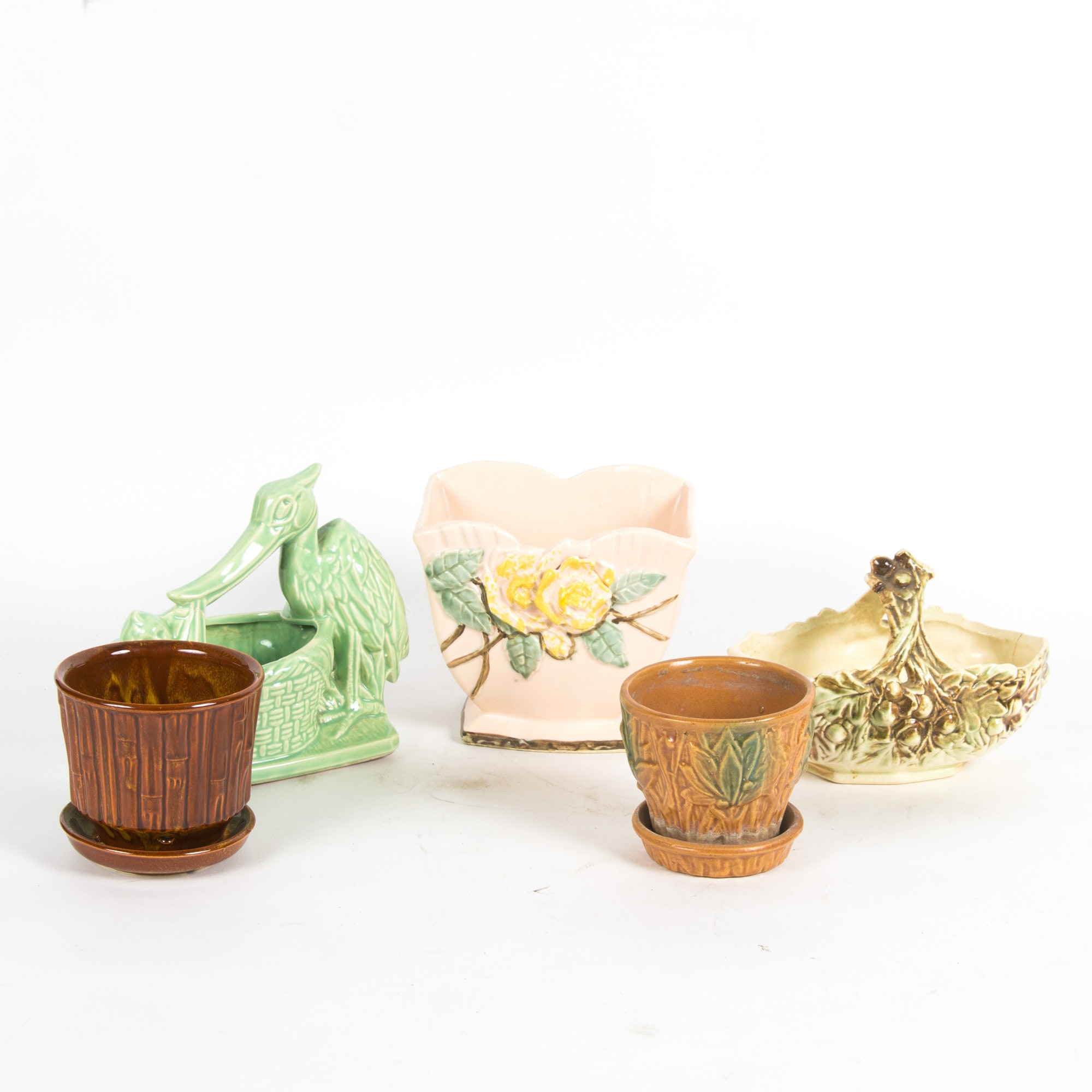 Vintage Floral and Zoomorphic Pottery featuring McCoy Pottery