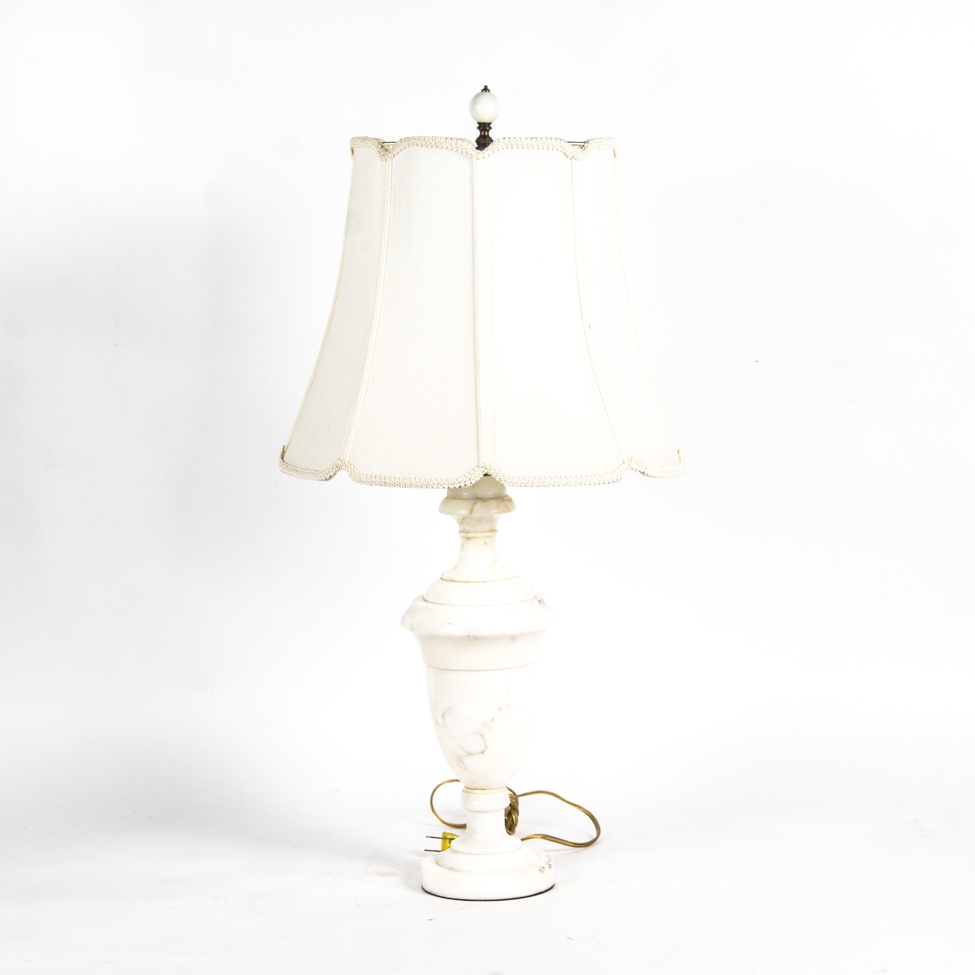 Vintage Solid White Marble Table Lamp