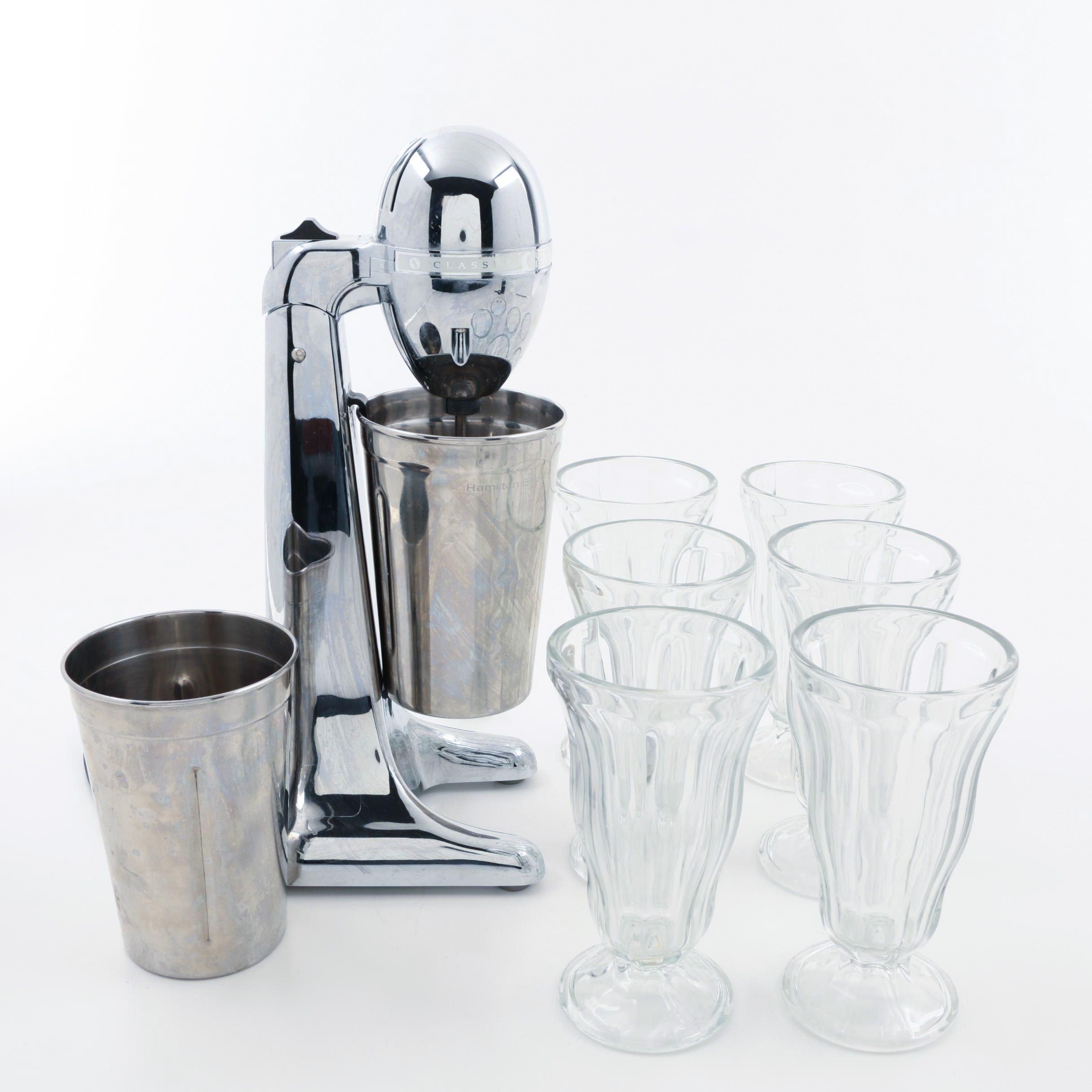 "Hamilton Beach ""Drink Master"" and Anchor Hocking ""Fountainware"" Glassware"