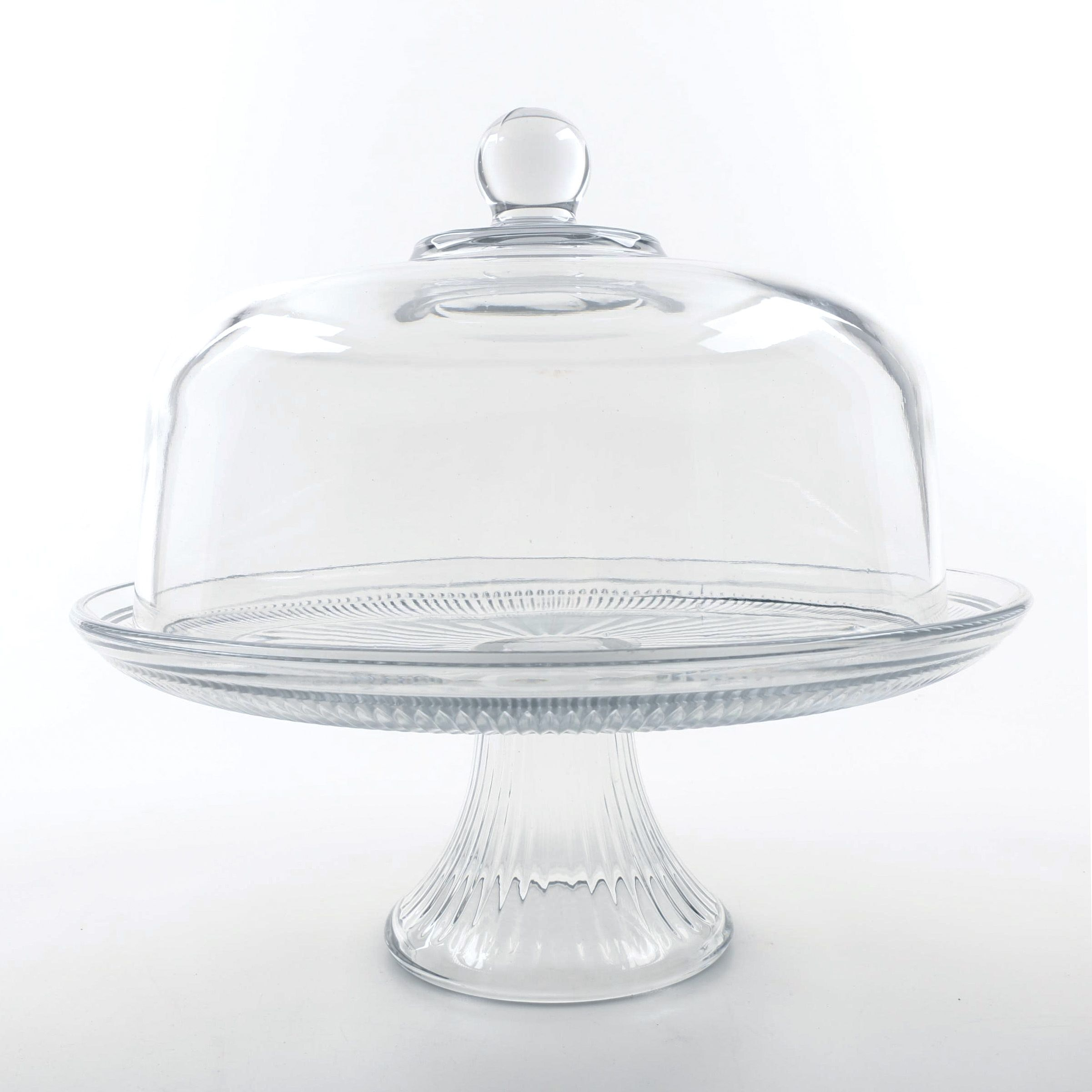 """Anchor Hocking """"Annapolis"""" Cake Stand with Dome Lid"""