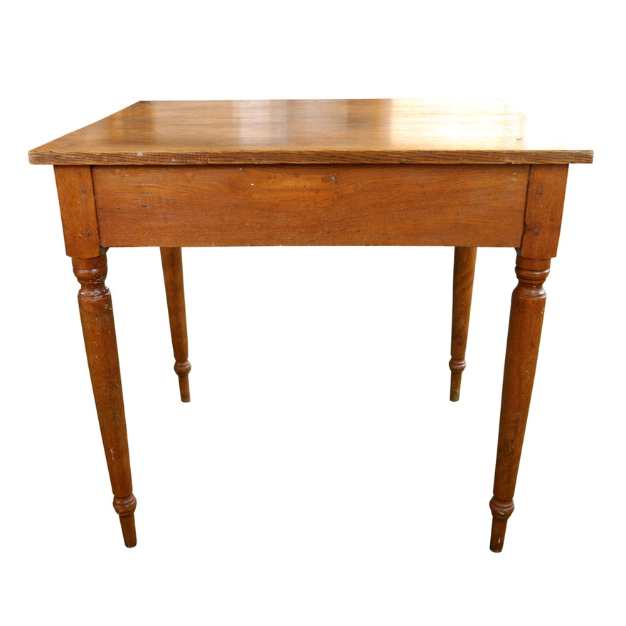 Wooden Peg Leg Table