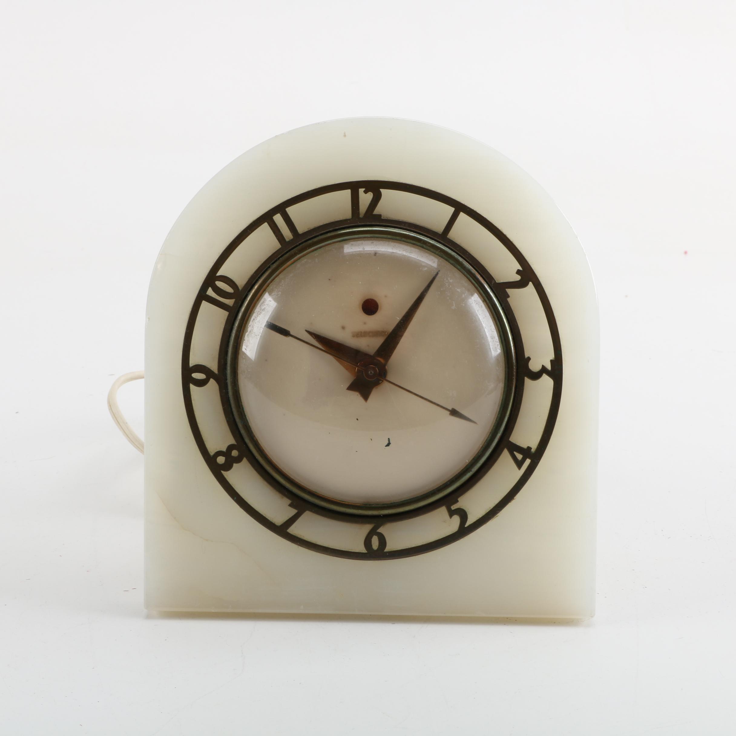 Vintage Telechron Art Deco Shelf Clock