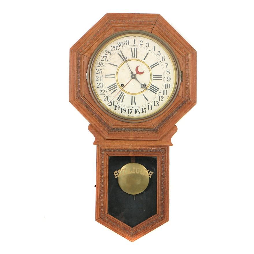 Antique William L Gilbert Quot Consort Quot Calendar Regulator