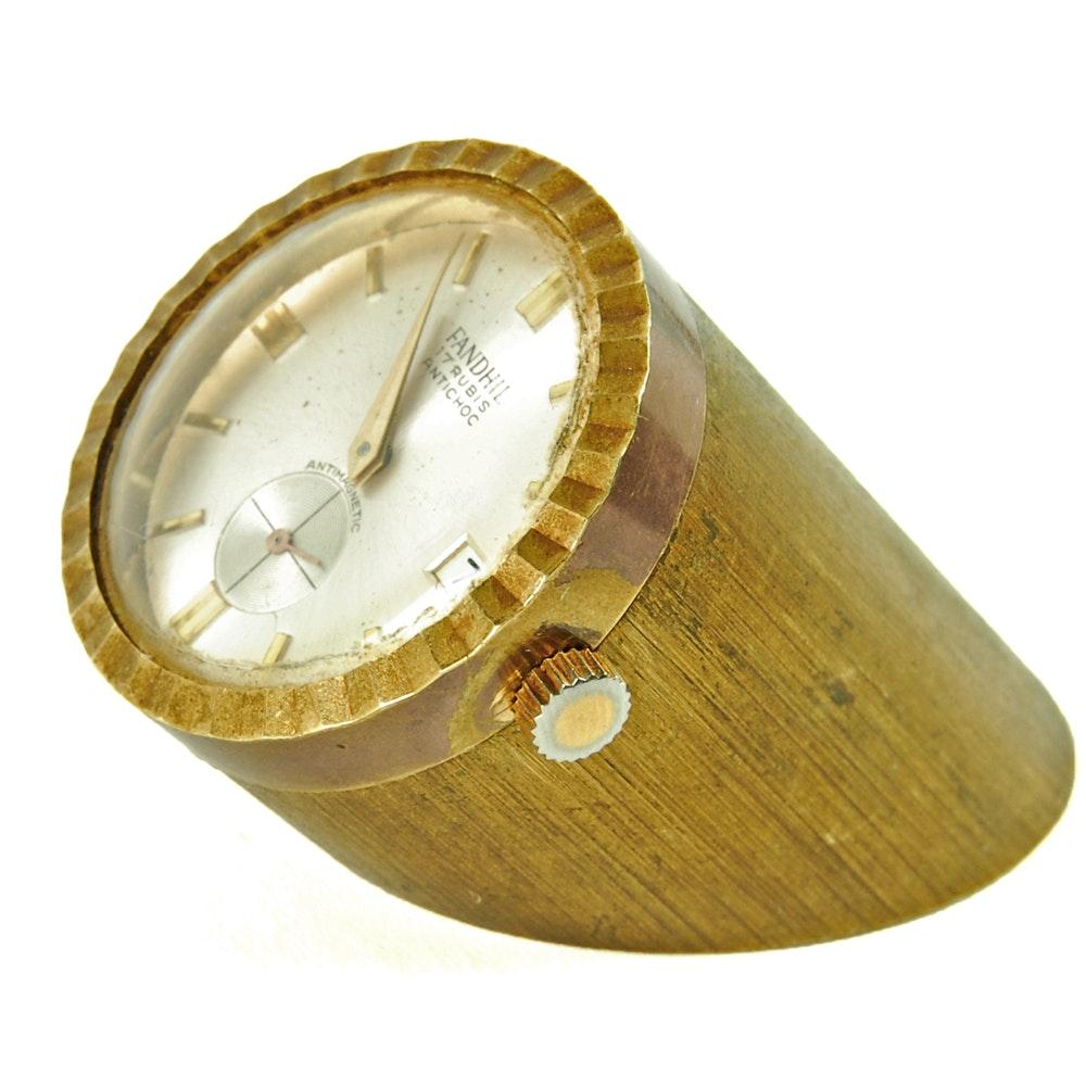 Fandhill 17 Jewel Brass Desk Clock