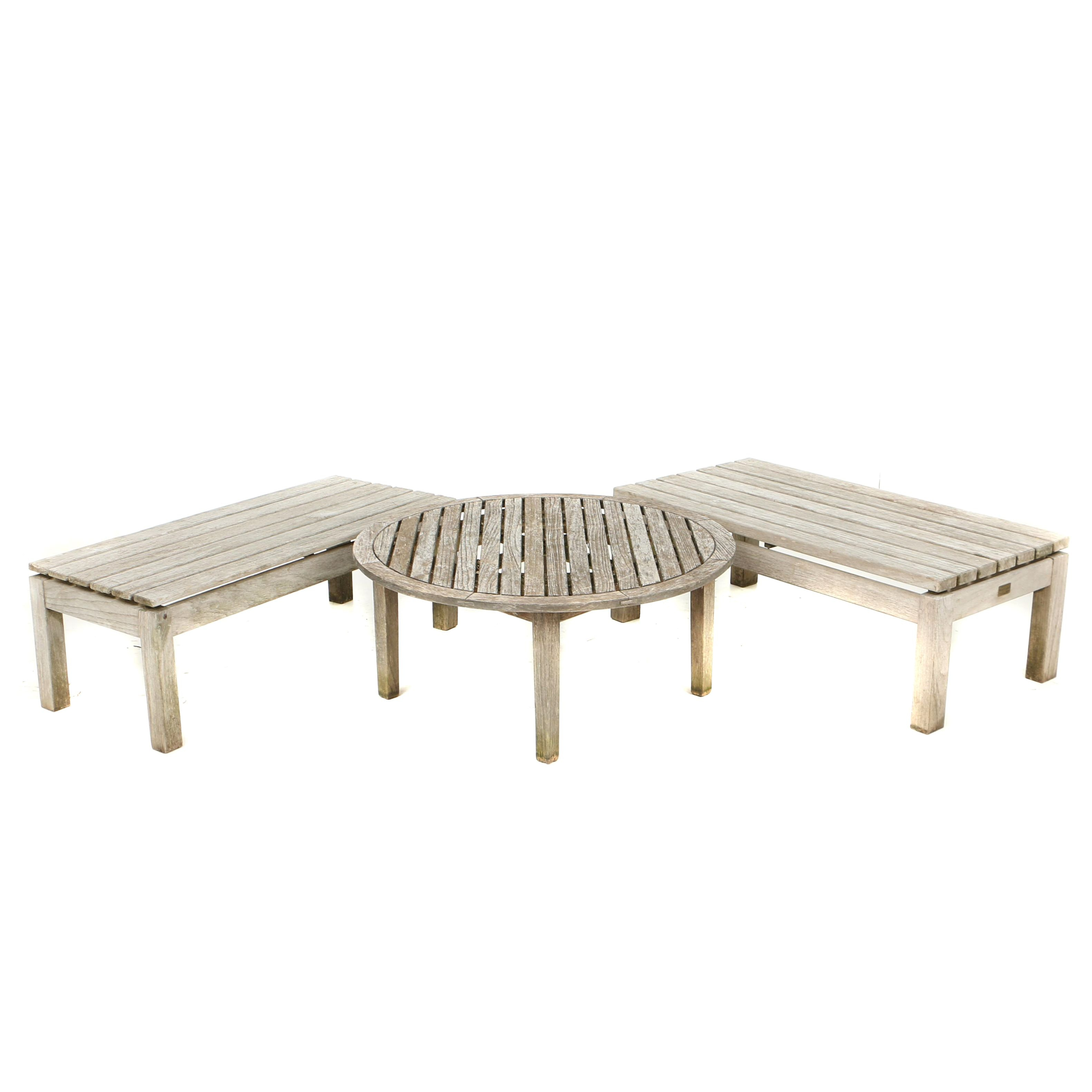 Teak Patio Coffee Tables, Including Smith & Hawken and Wood Classics