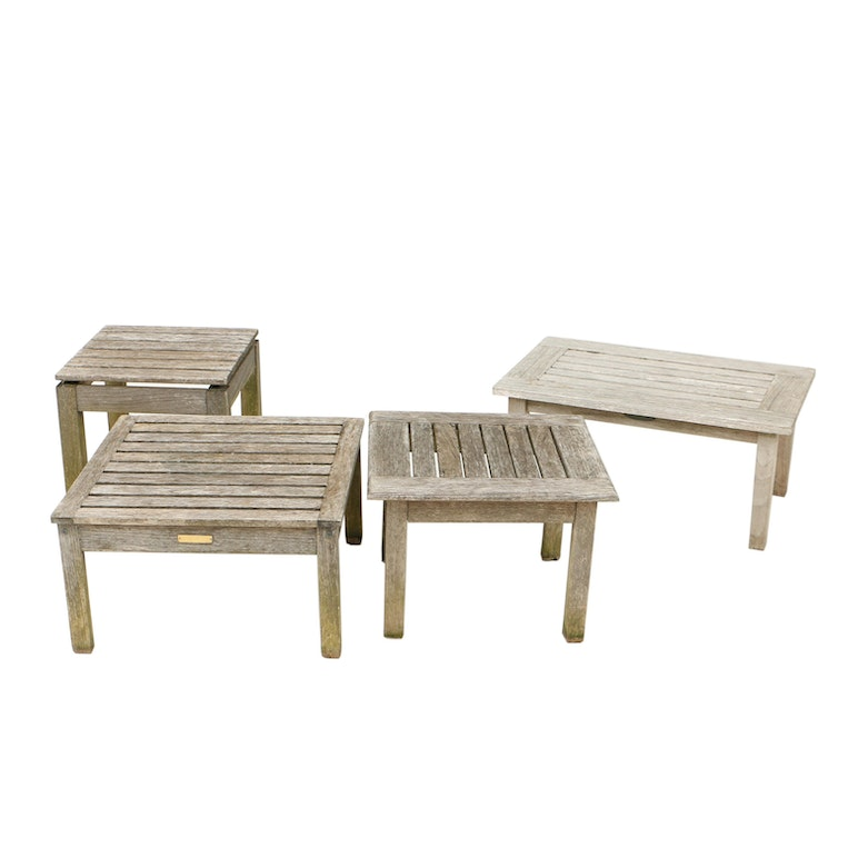 Teak Patio Side Tables Including Smith Hawken And Kingsley Bate Ebth