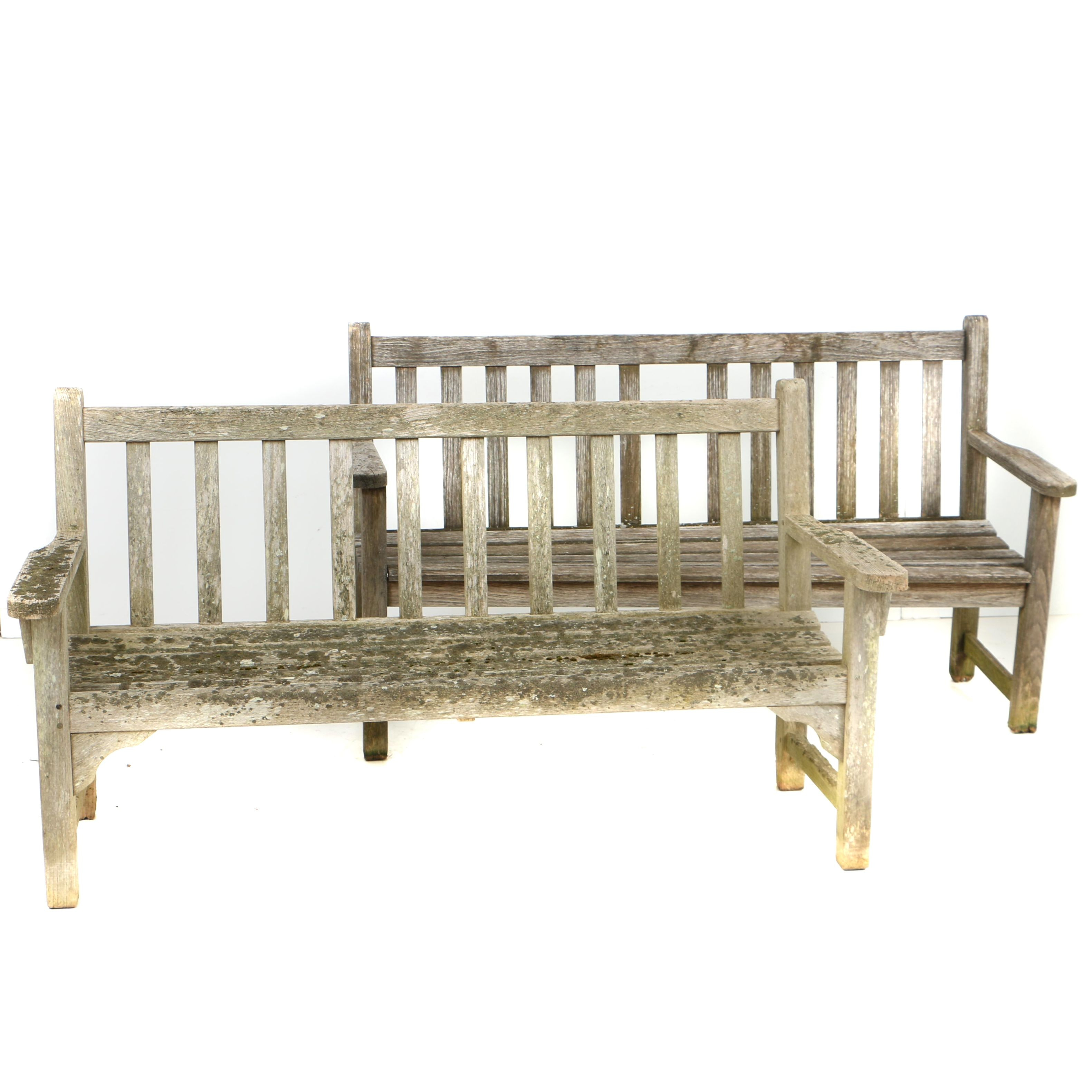 Teak Patio Benches, Including Smith & Hawken