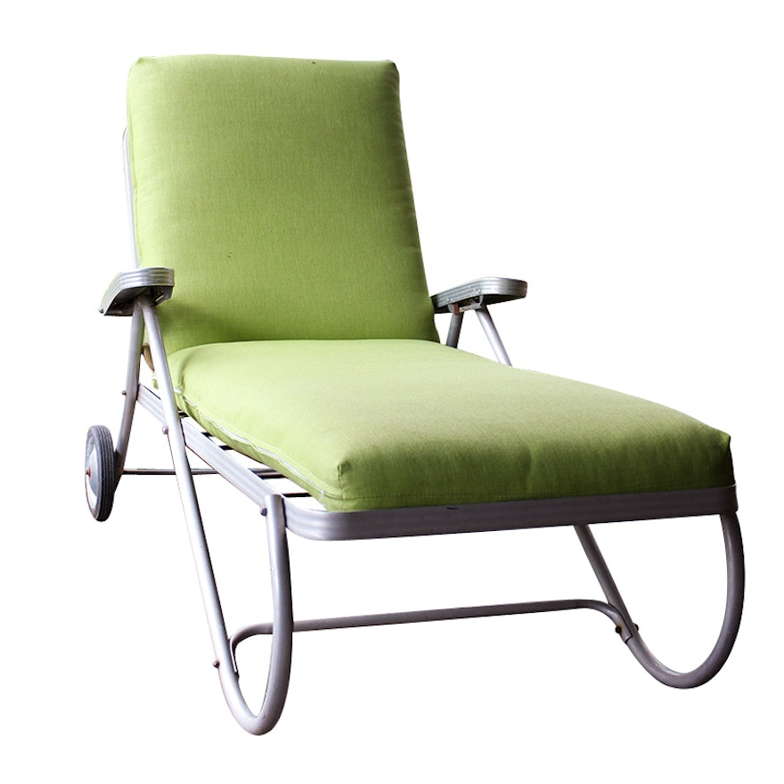 Retro Aluminum Patio Lounge Chair