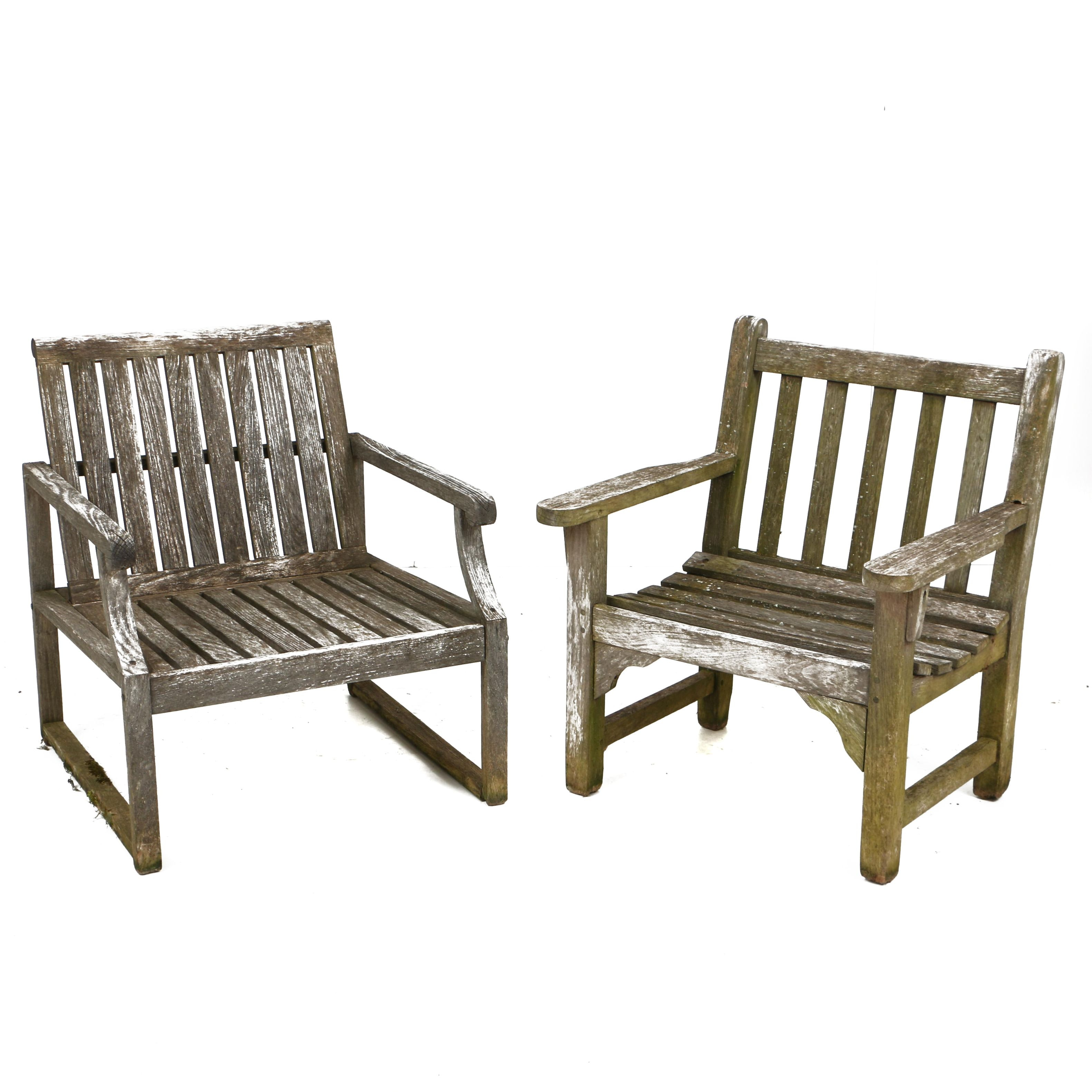 Teak Patio Armchairs, Including Smith & Hawken