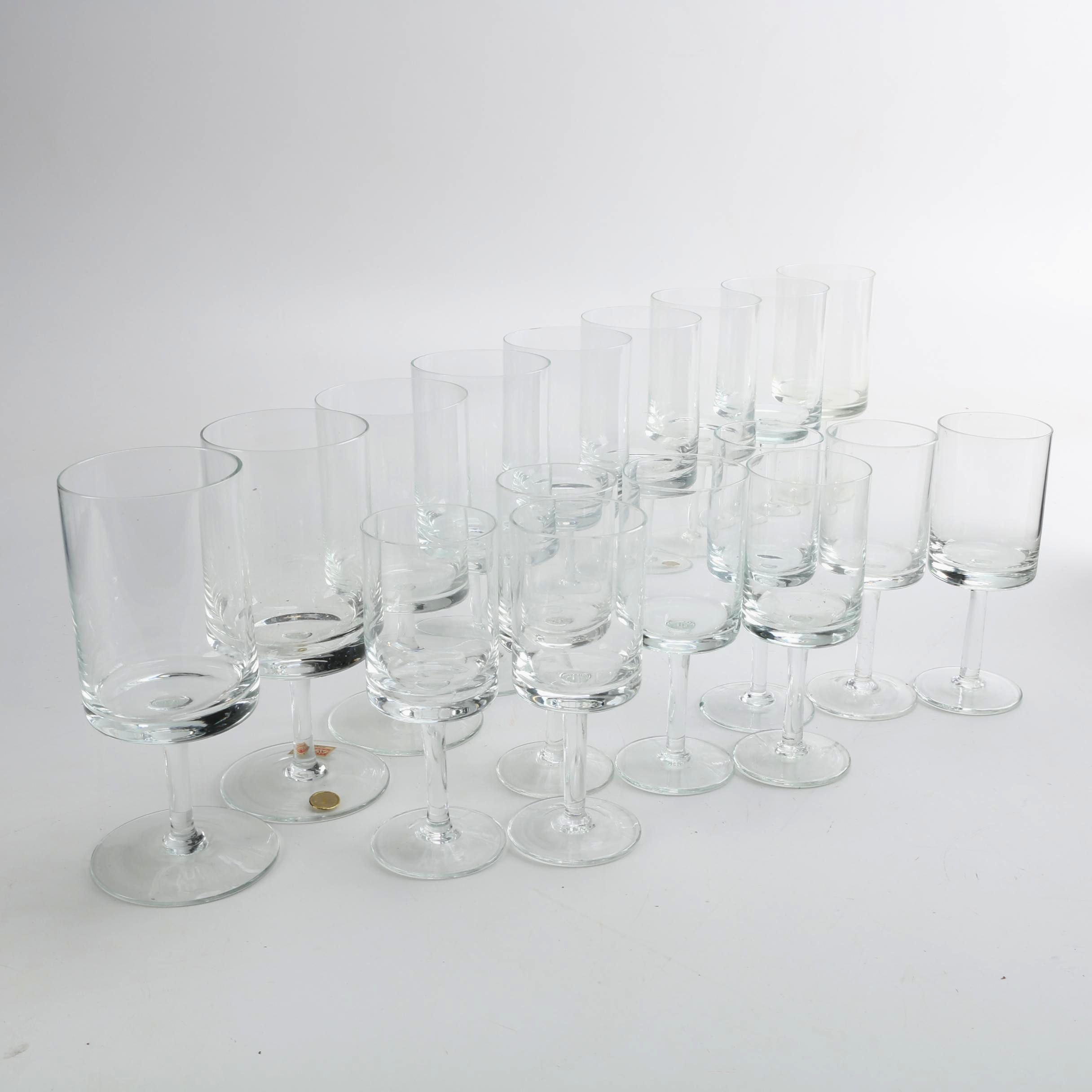 Seventeen Pieces of Glass Stemware