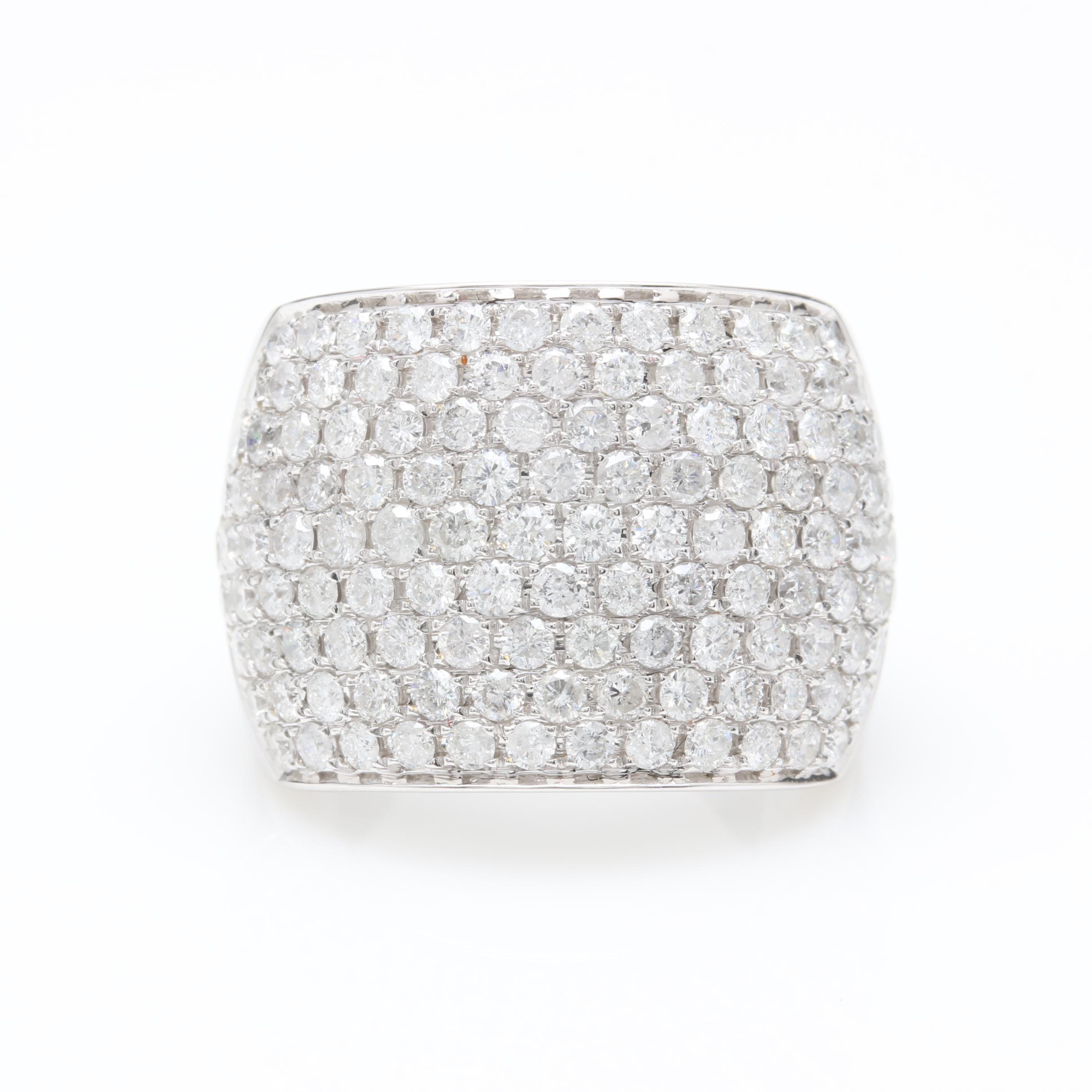 14K White Gold 3.52 CTW Diamond Ring