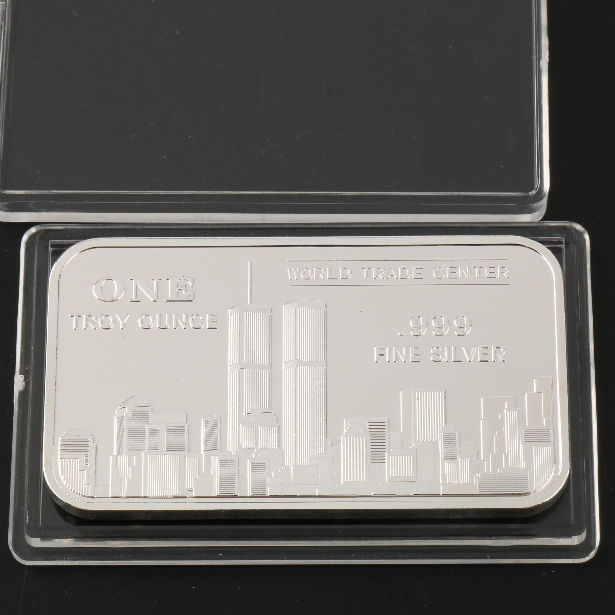 One Troy Ounce World Trade Center Commemorative Silver Proof Ingot