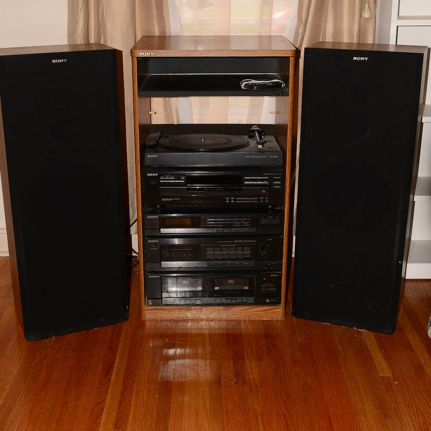 sony home stereo system ebth. Black Bedroom Furniture Sets. Home Design Ideas