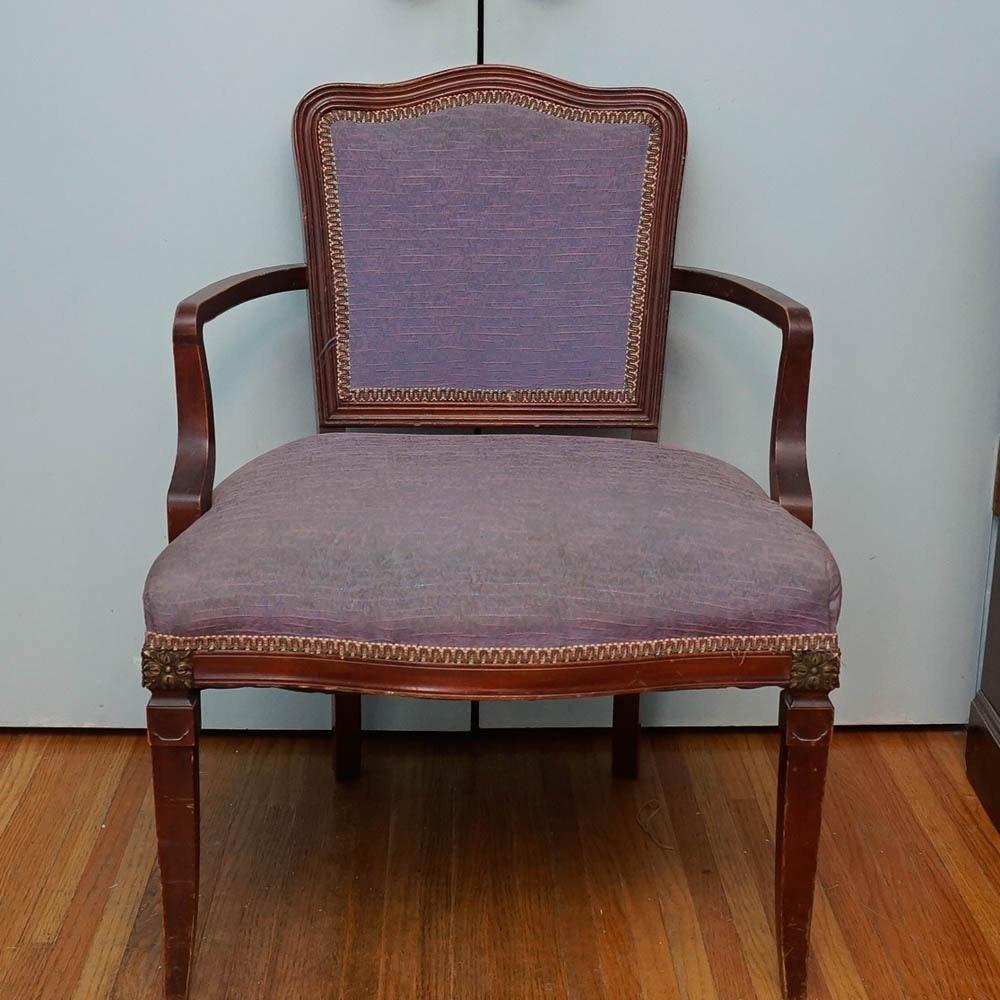 Vintage Sheraton Style Armchair
