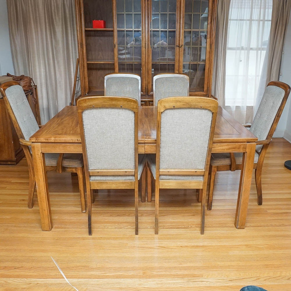 Beau Vintage Dining Table And Chairs By Burlington House Furniture ...