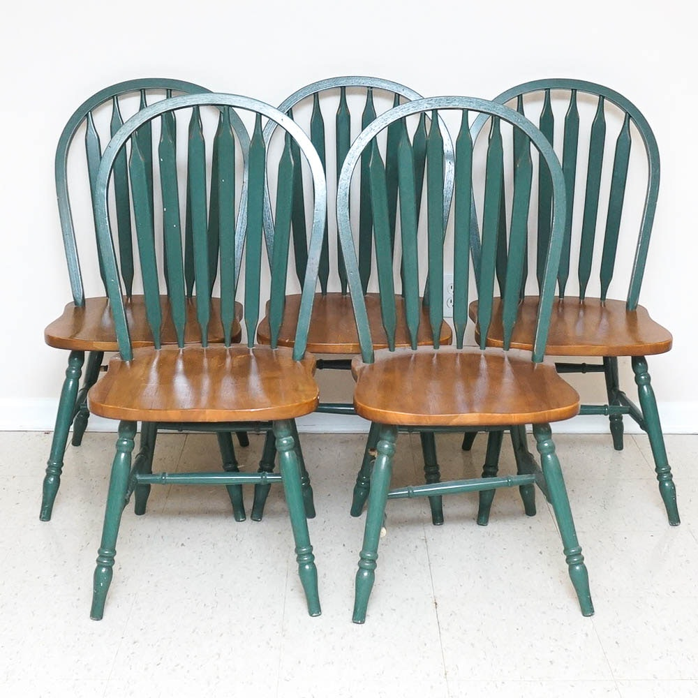 Set of Arrow Back Dining Chairs