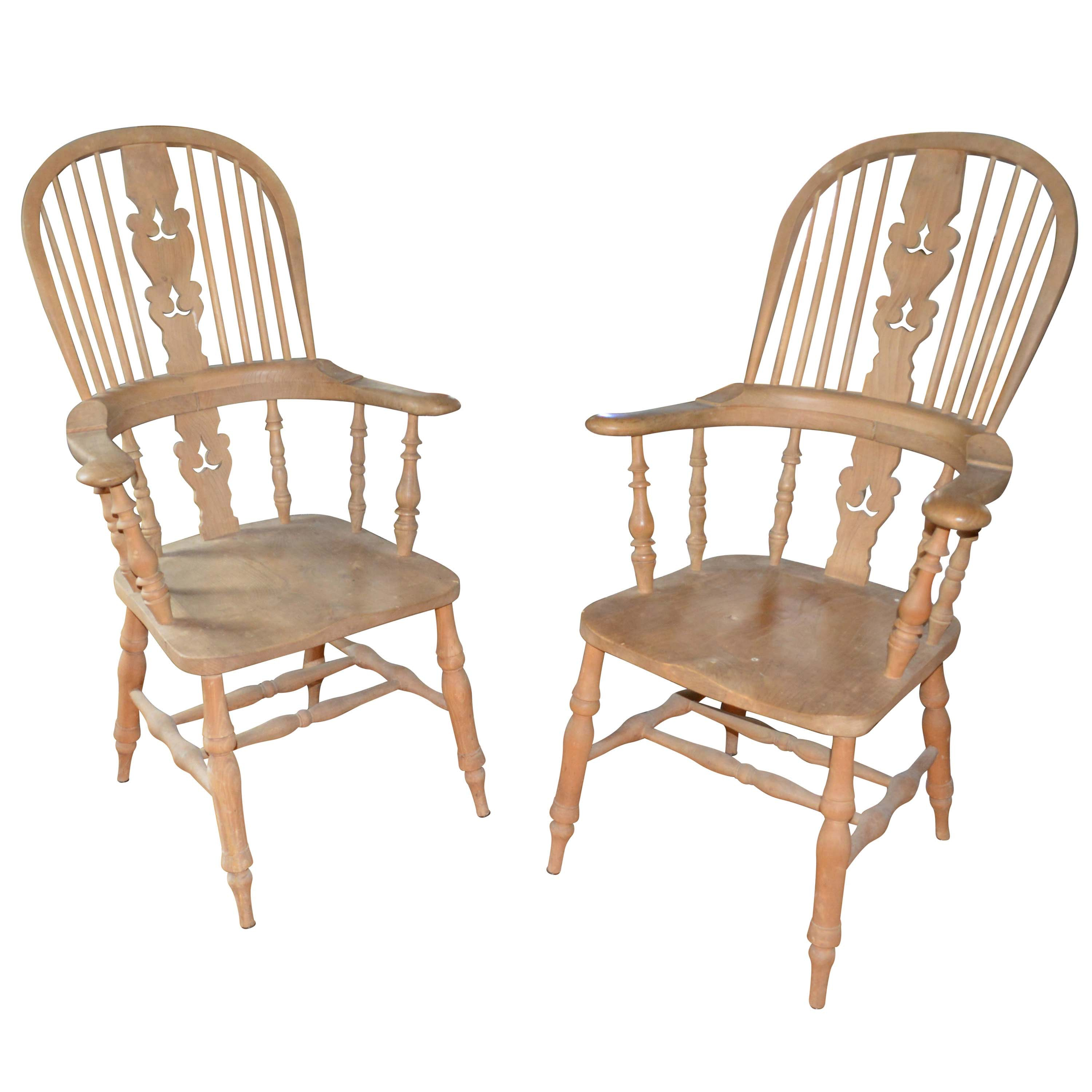 Vintage Windsor Style Armchairs