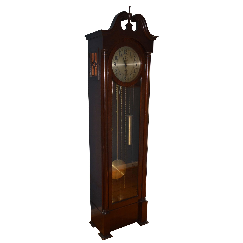 Vintage Walnut Grandfather Clock