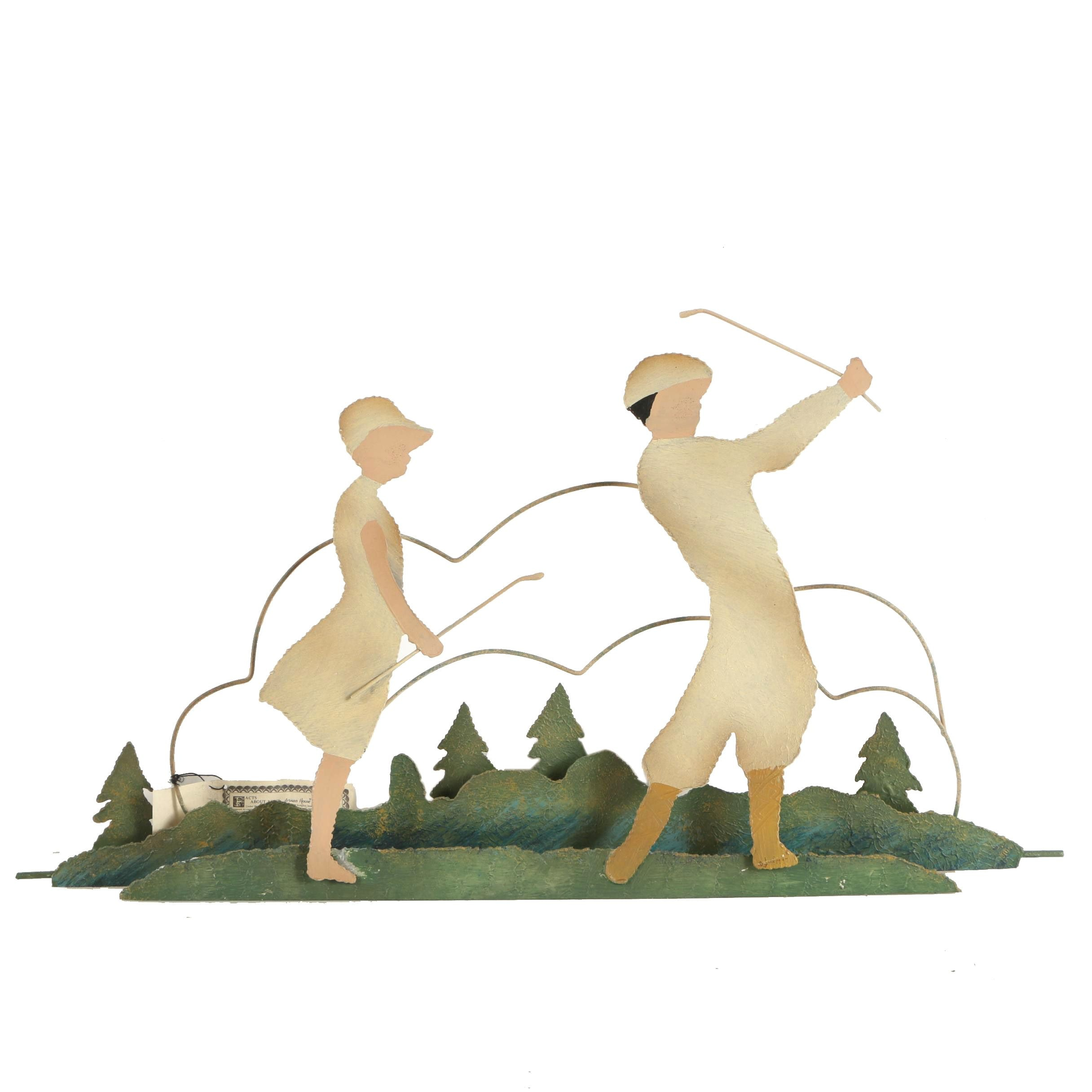 """Curtis Jeré and Artisan House Metal Wall Sculpture """"On the Fairway"""""""