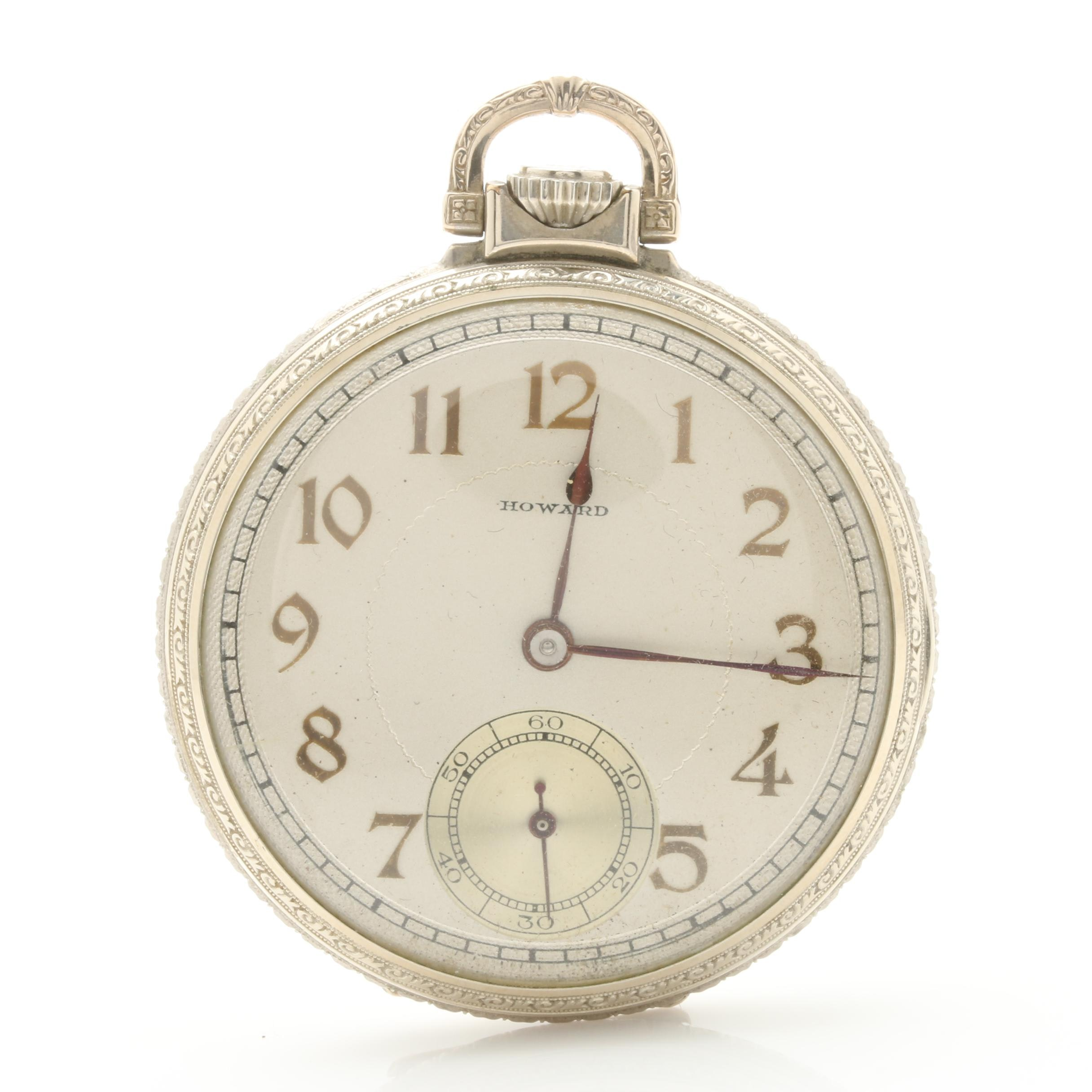 Antique Howard Open Face Pocket Watch