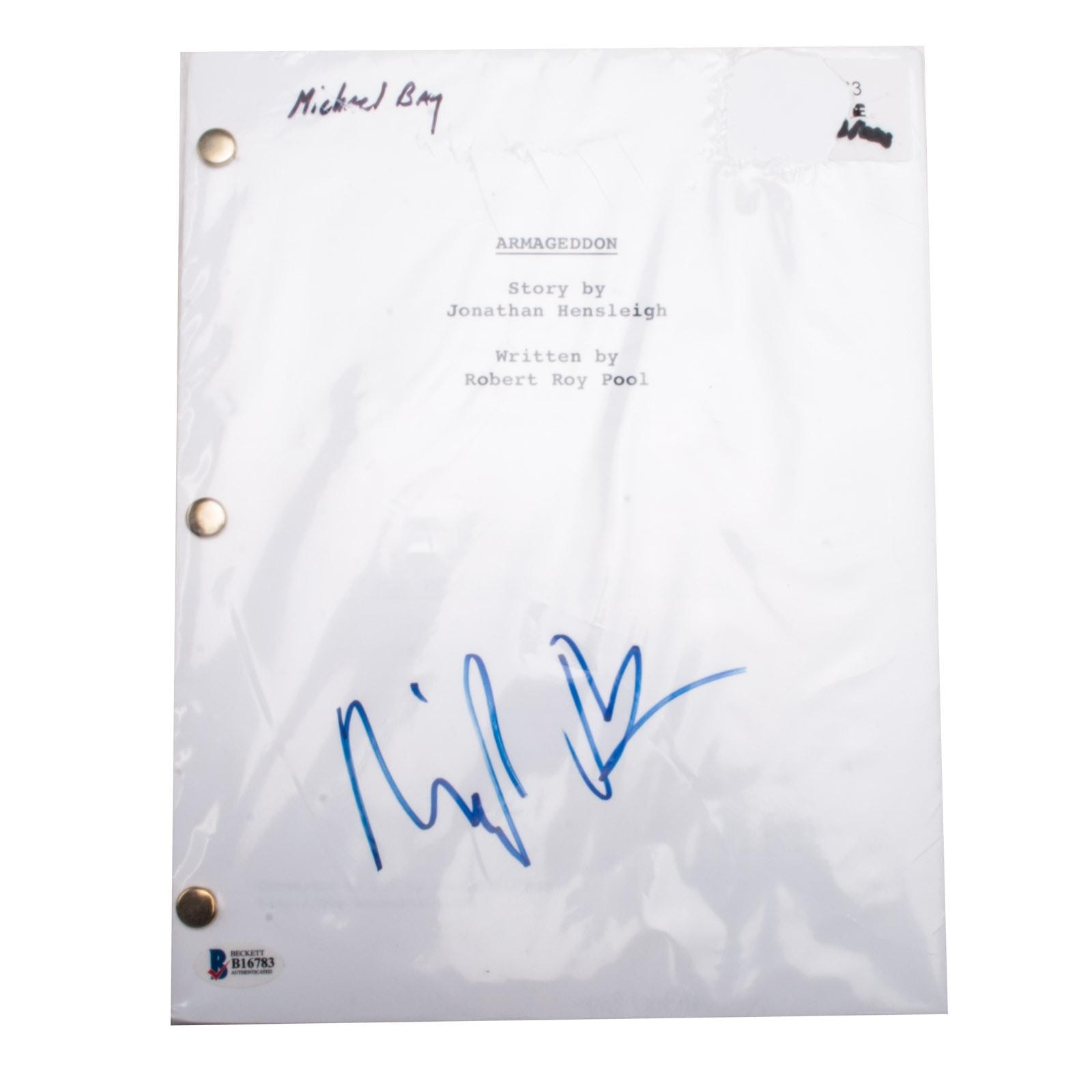 "Michael Bay Signed ""Armageddon"" Script  COA"